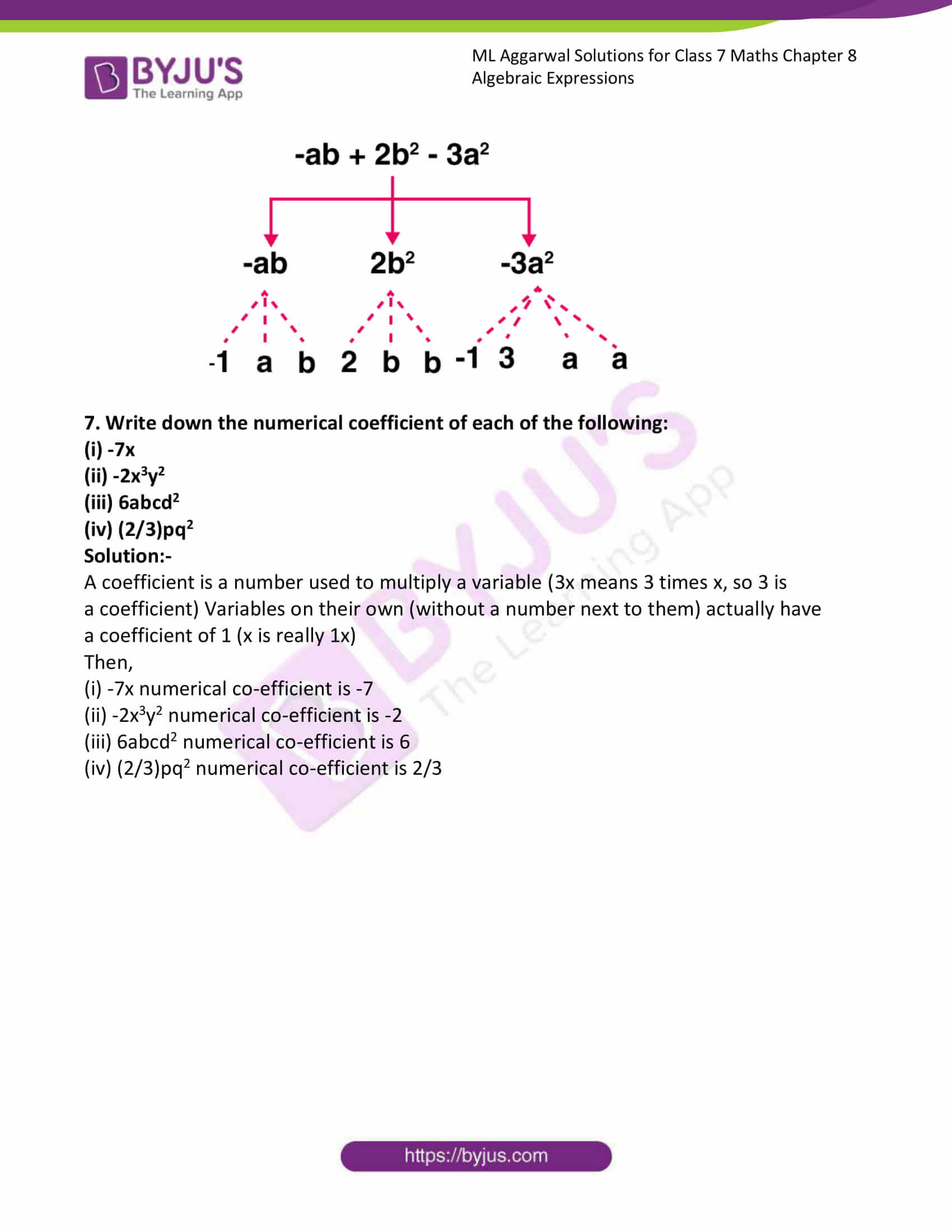 ml aggarwal sol class 7 maths chapter 8 5