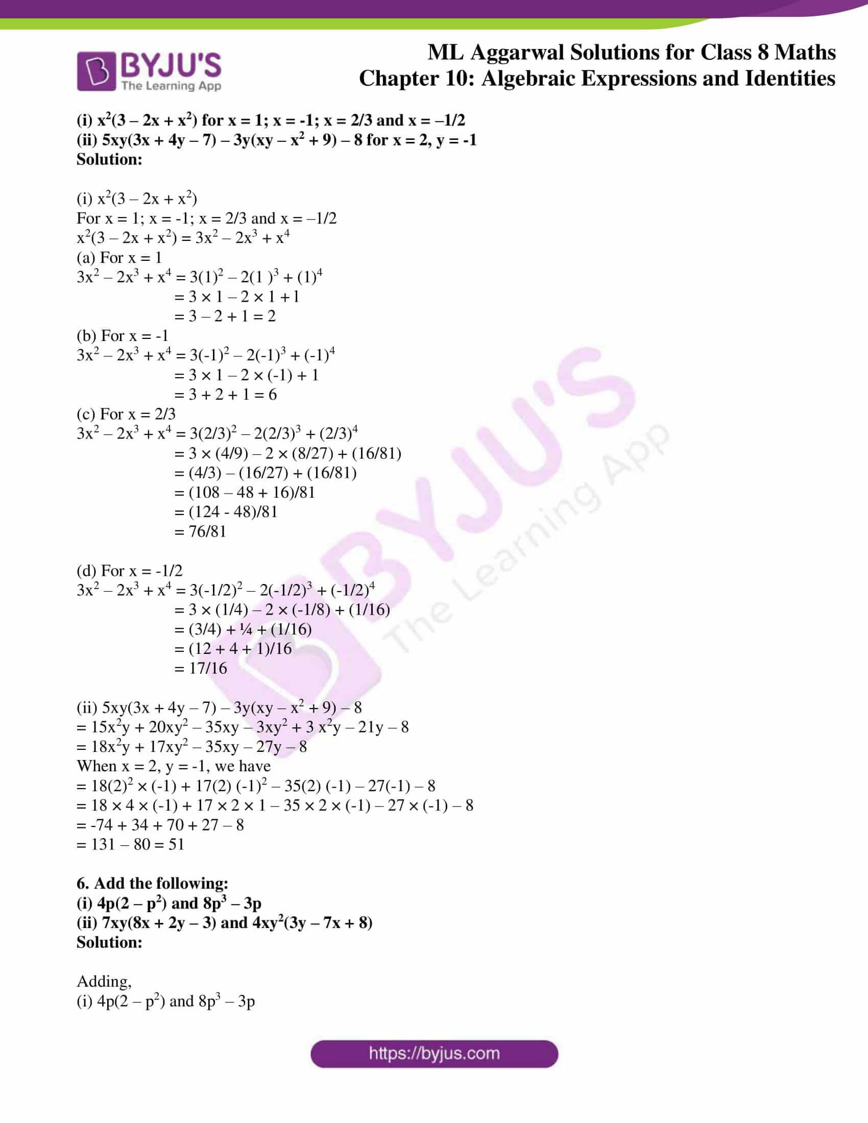 ml aggarwal sol mathematics class 8 ch 10 07