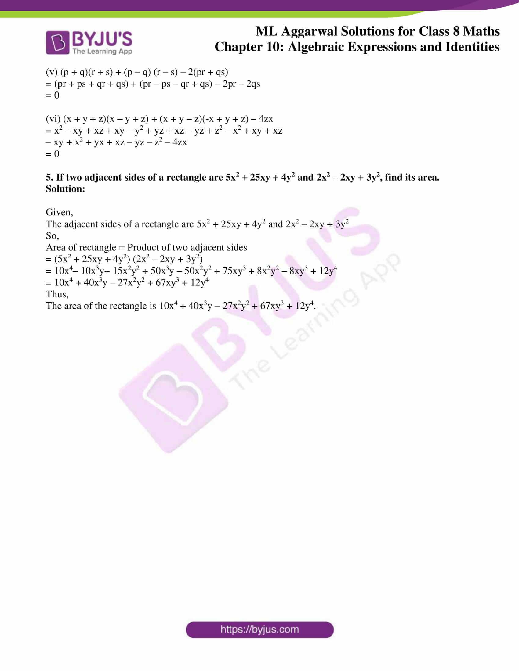 ml aggarwal sol mathematics class 8 ch 10 12