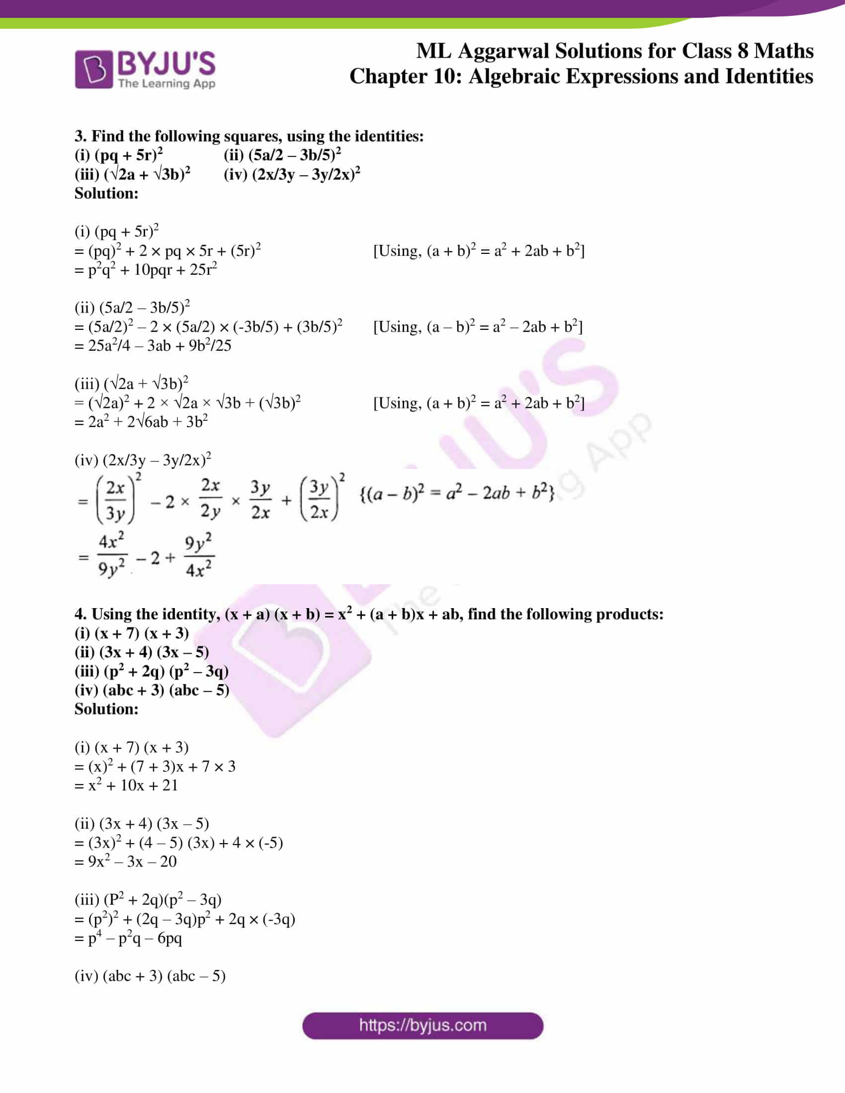 ml aggarwal sol mathematics class 8 ch 10 20