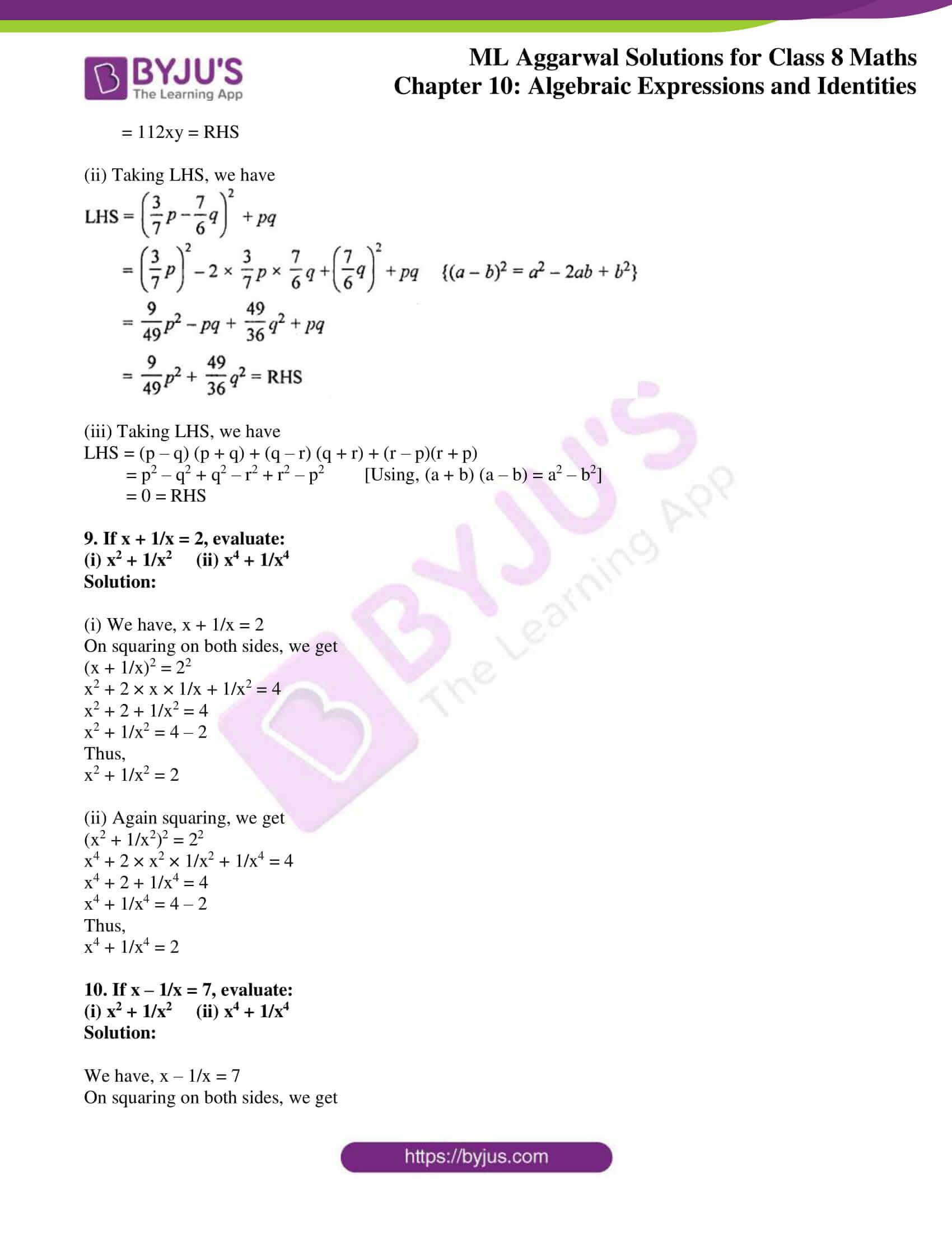 ml aggarwal sol mathematics class 8 ch 10 23