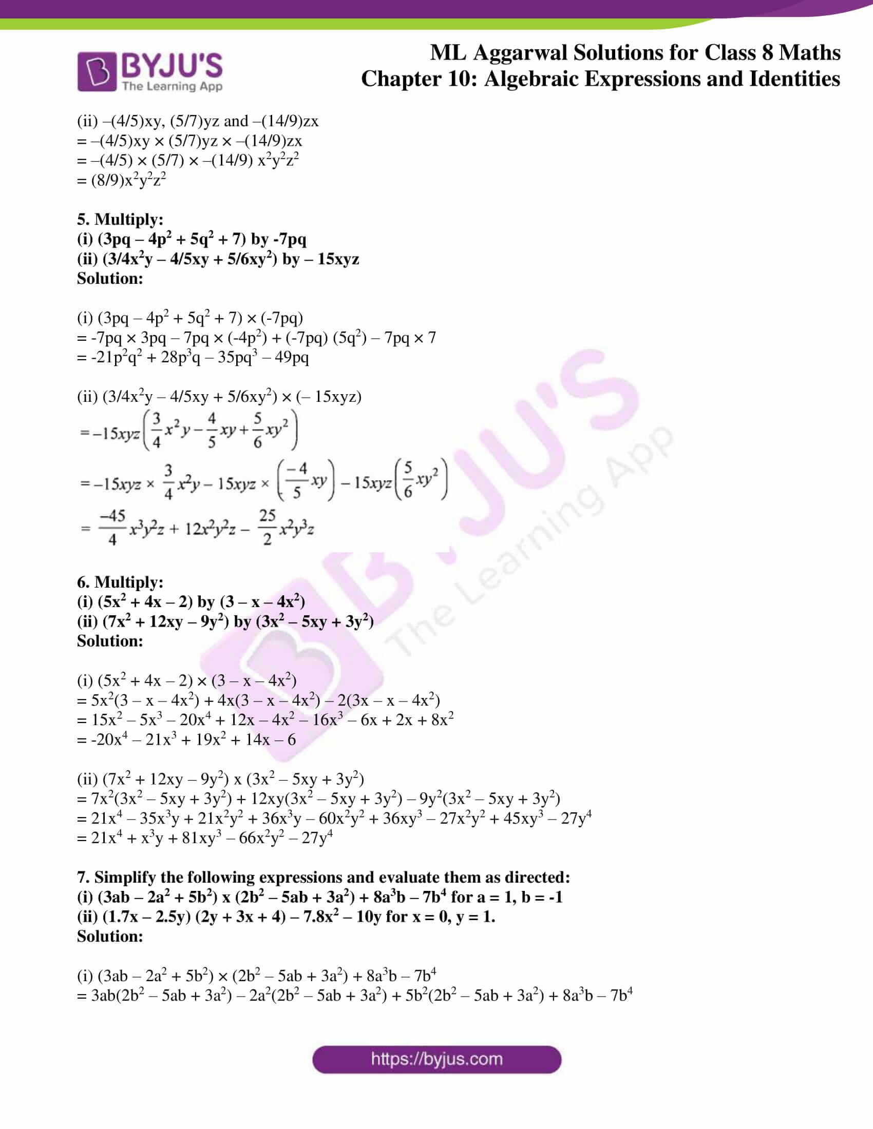ml aggarwal sol mathematics class 8 ch 10 27