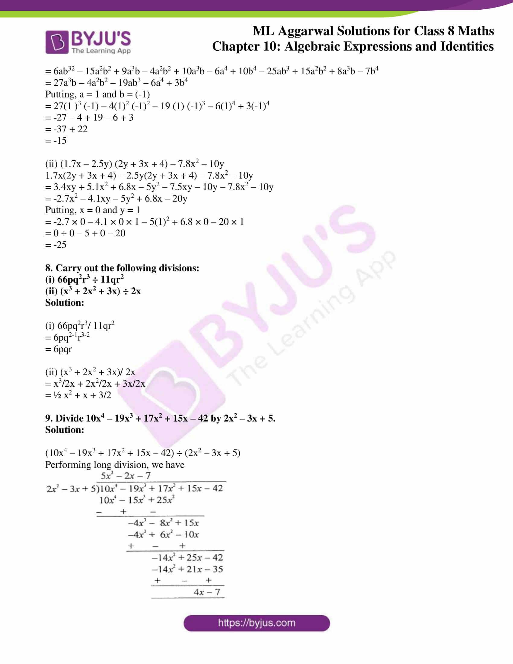ml aggarwal sol mathematics class 8 ch 10 28