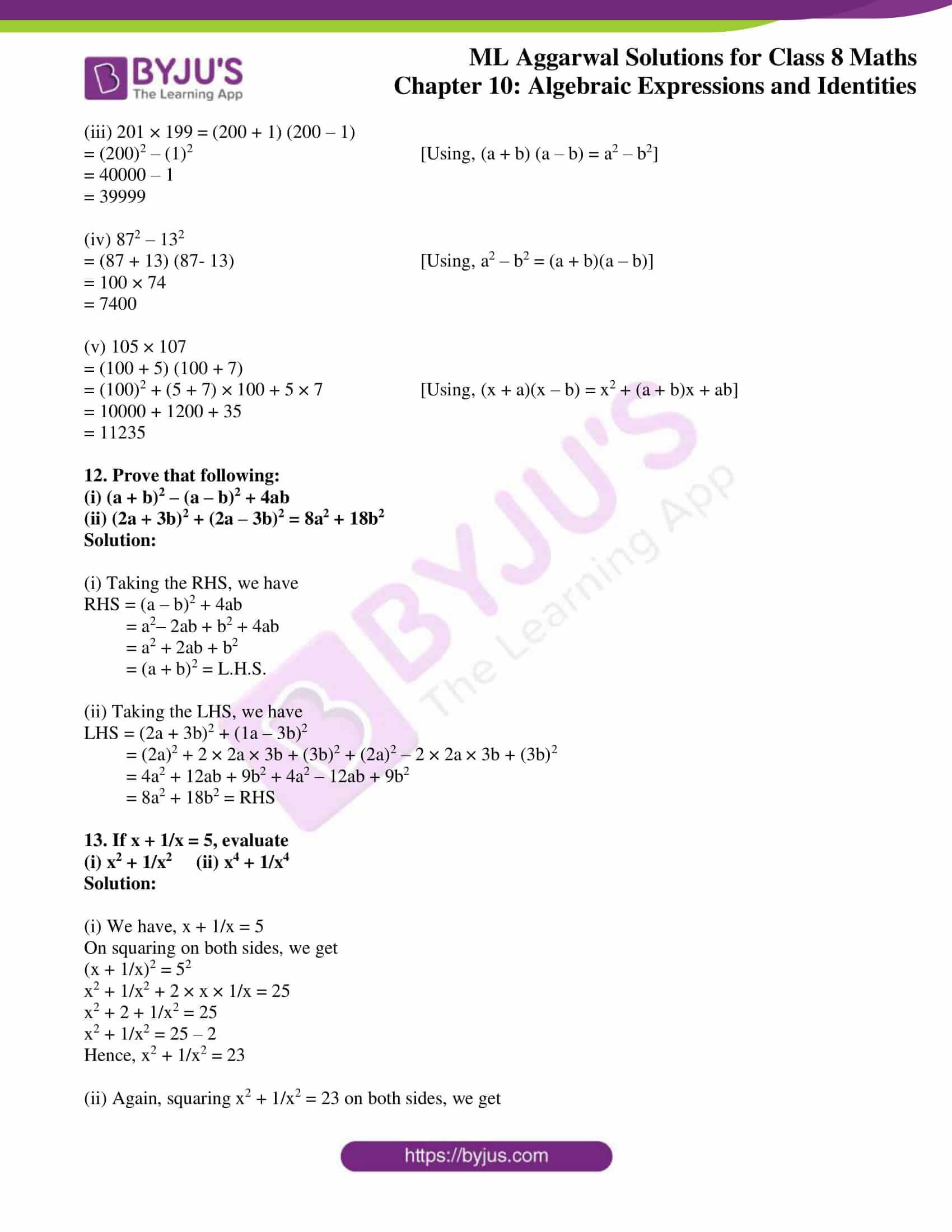 ml aggarwal sol mathematics class 8 ch 10 30