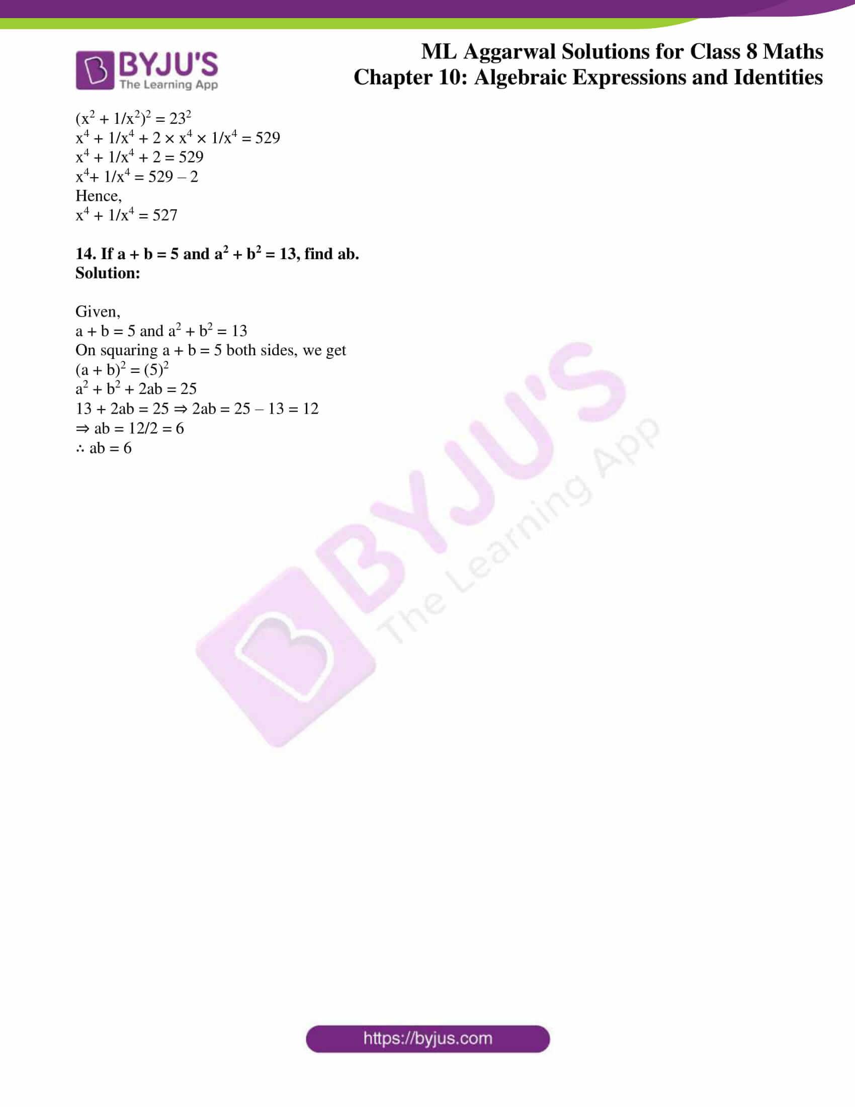 ml aggarwal sol mathematics class 8 ch 10 31
