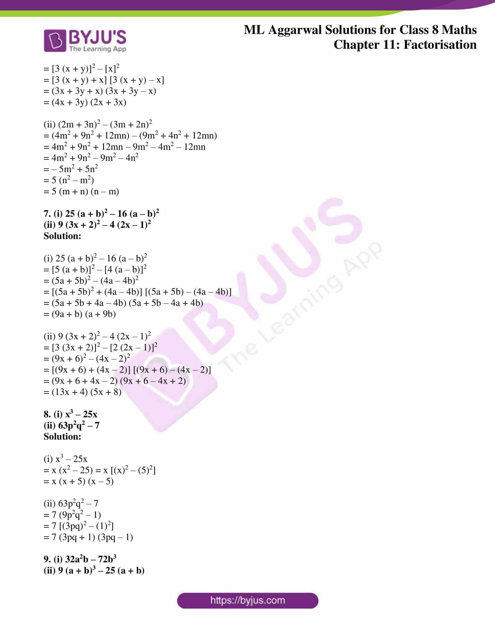 ml aggarwal sol mathematics class 8 ch 11 09