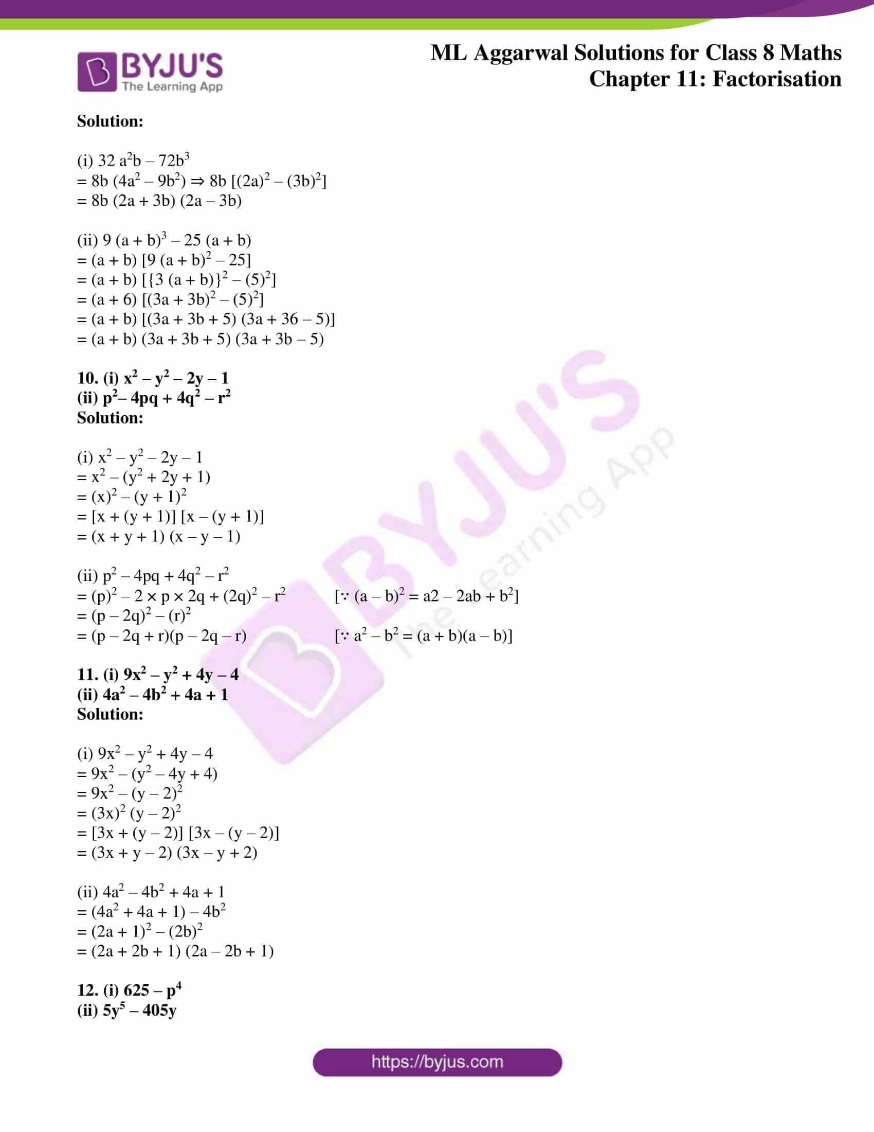 ml aggarwal sol mathematics class 8 ch 11 10