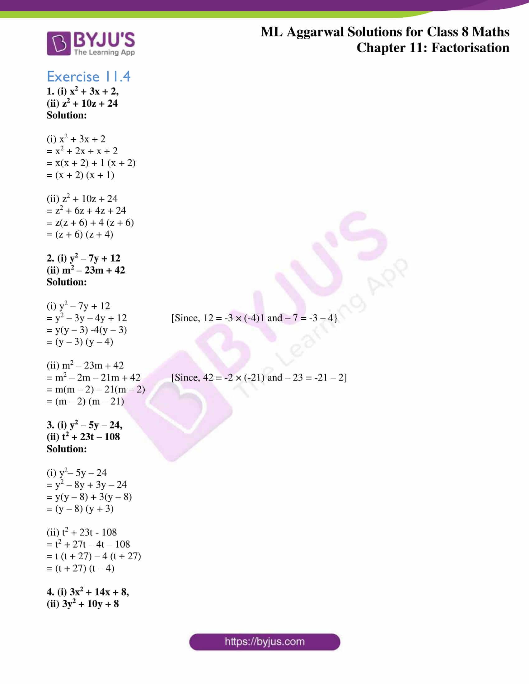 ml aggarwal sol mathematics class 8 ch 11 12