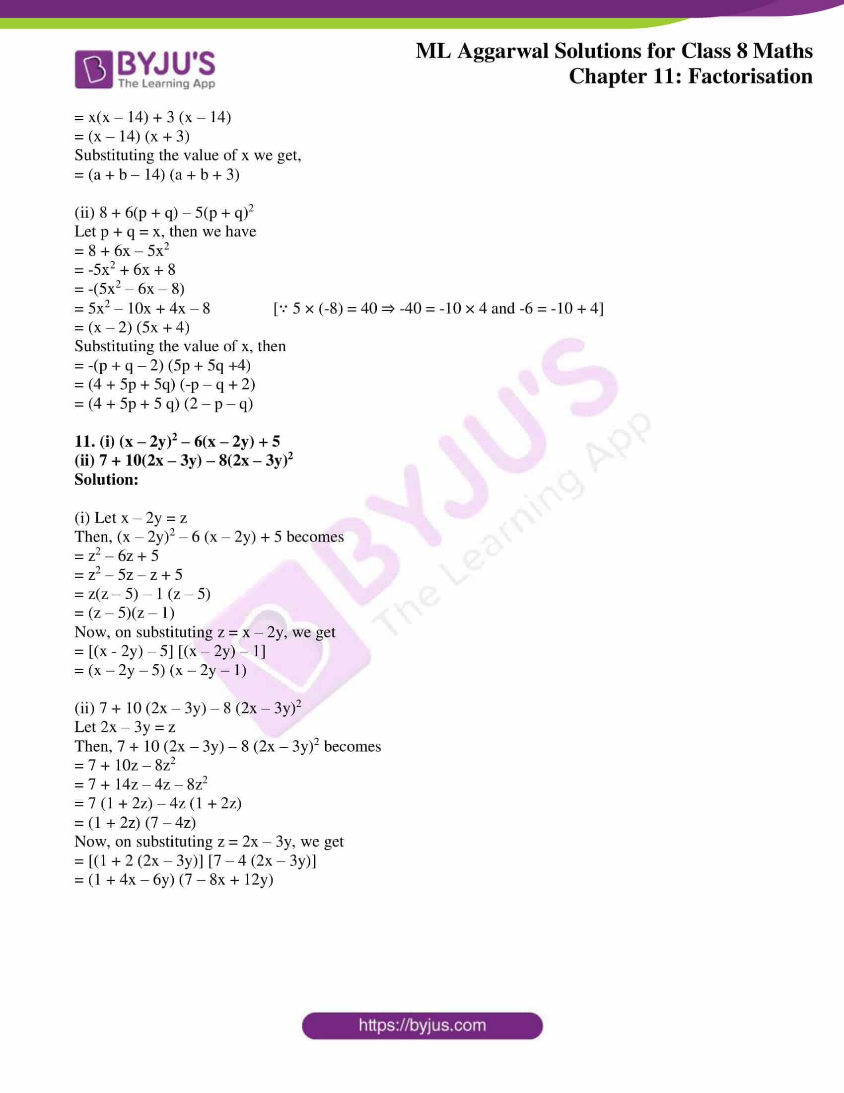 ml aggarwal sol mathematics class 8 ch 11 15