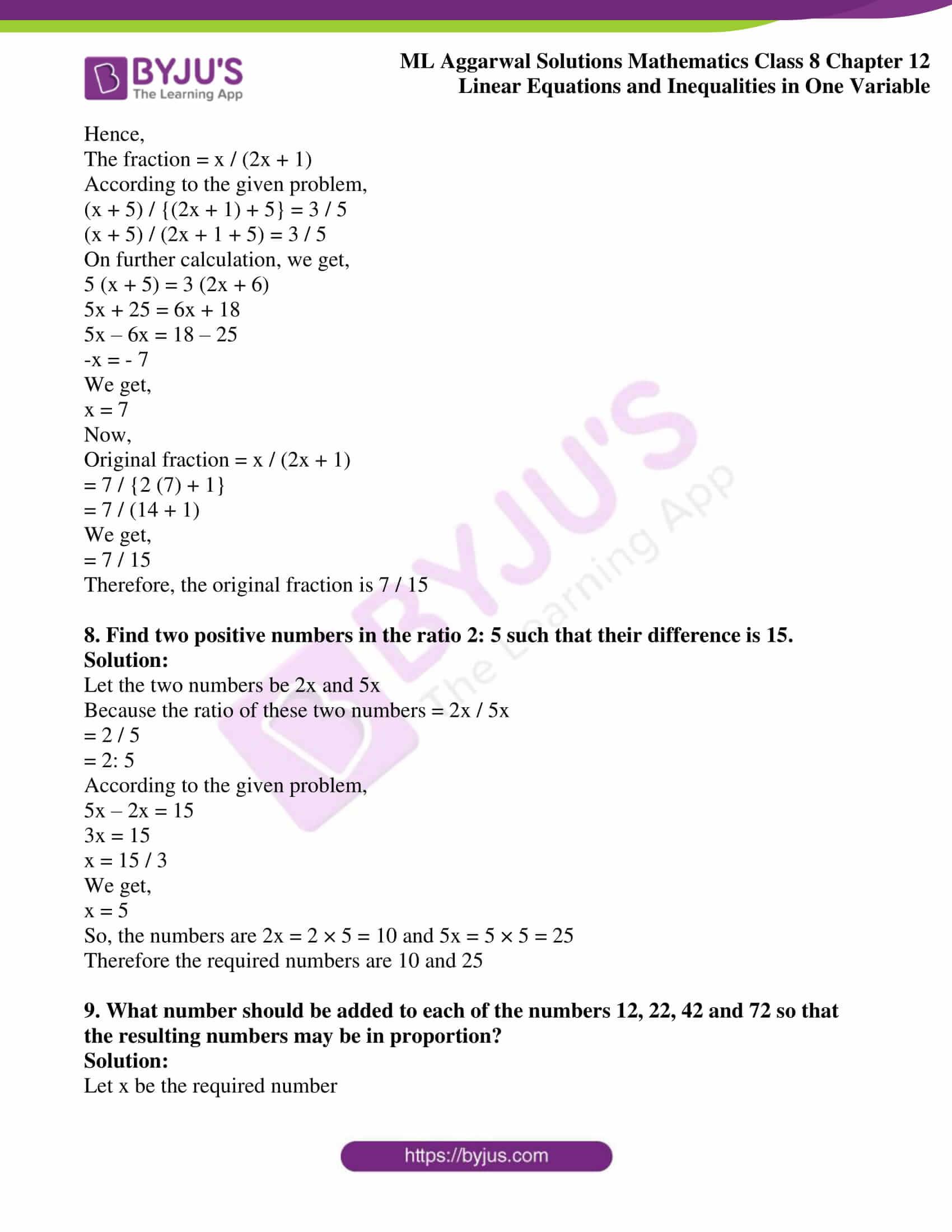 ml aggarwal sol mathematics class 8 ch 12 13