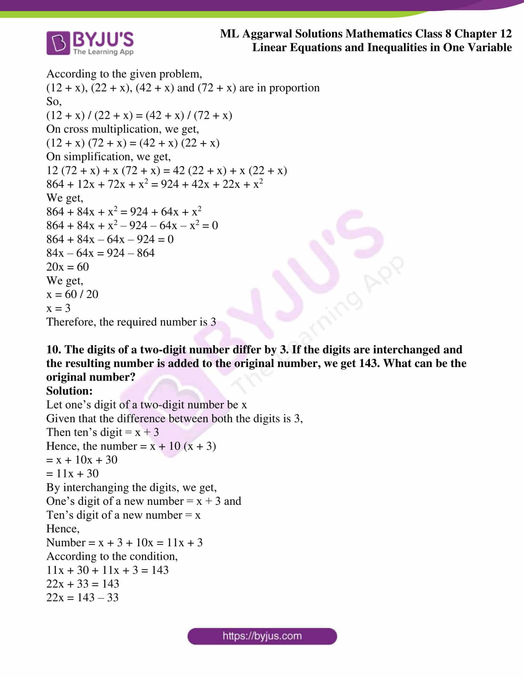 ml aggarwal sol mathematics class 8 ch 12 14
