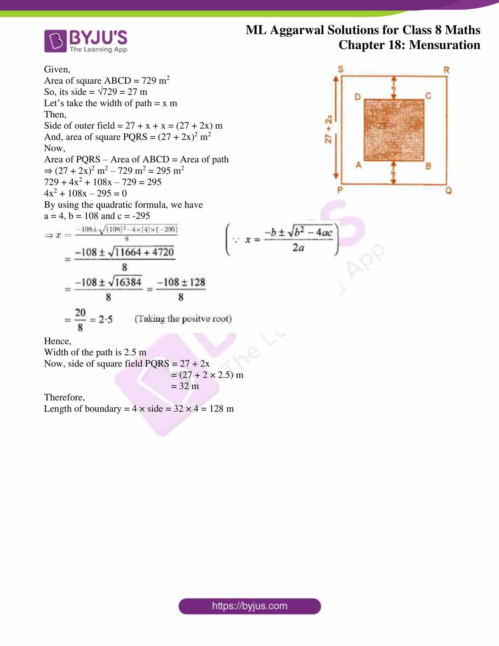 ml aggarwal sol mathematics class 8 ch 18 07