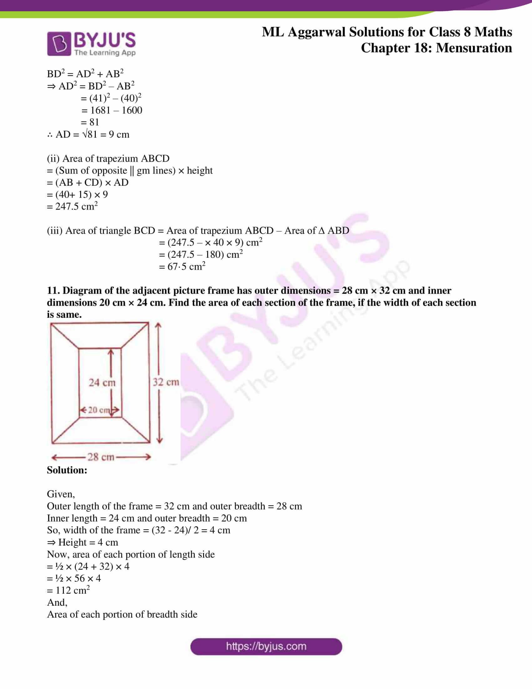 ml aggarwal sol mathematics class 8 ch 18 13