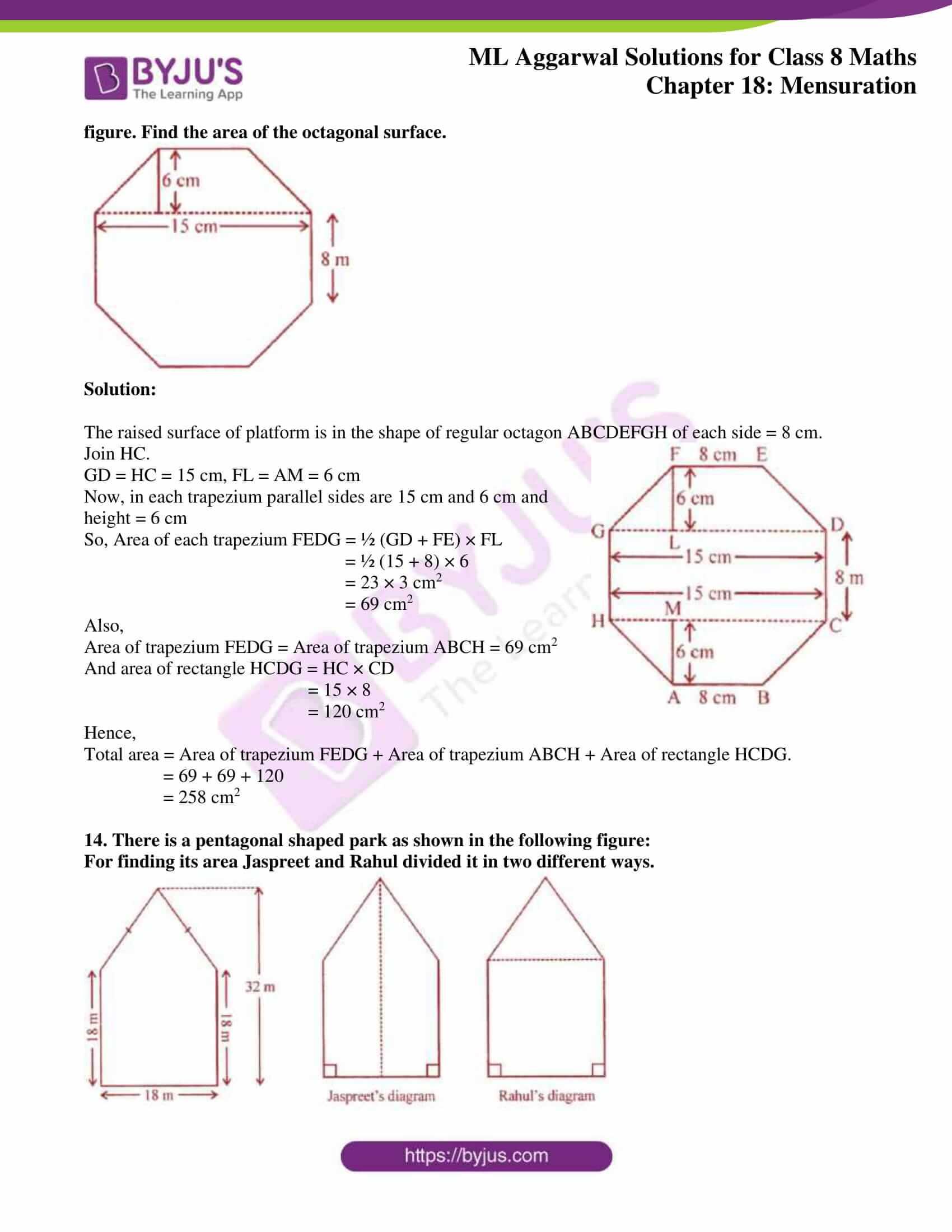 ml aggarwal sol mathematics class 8 ch 18 15