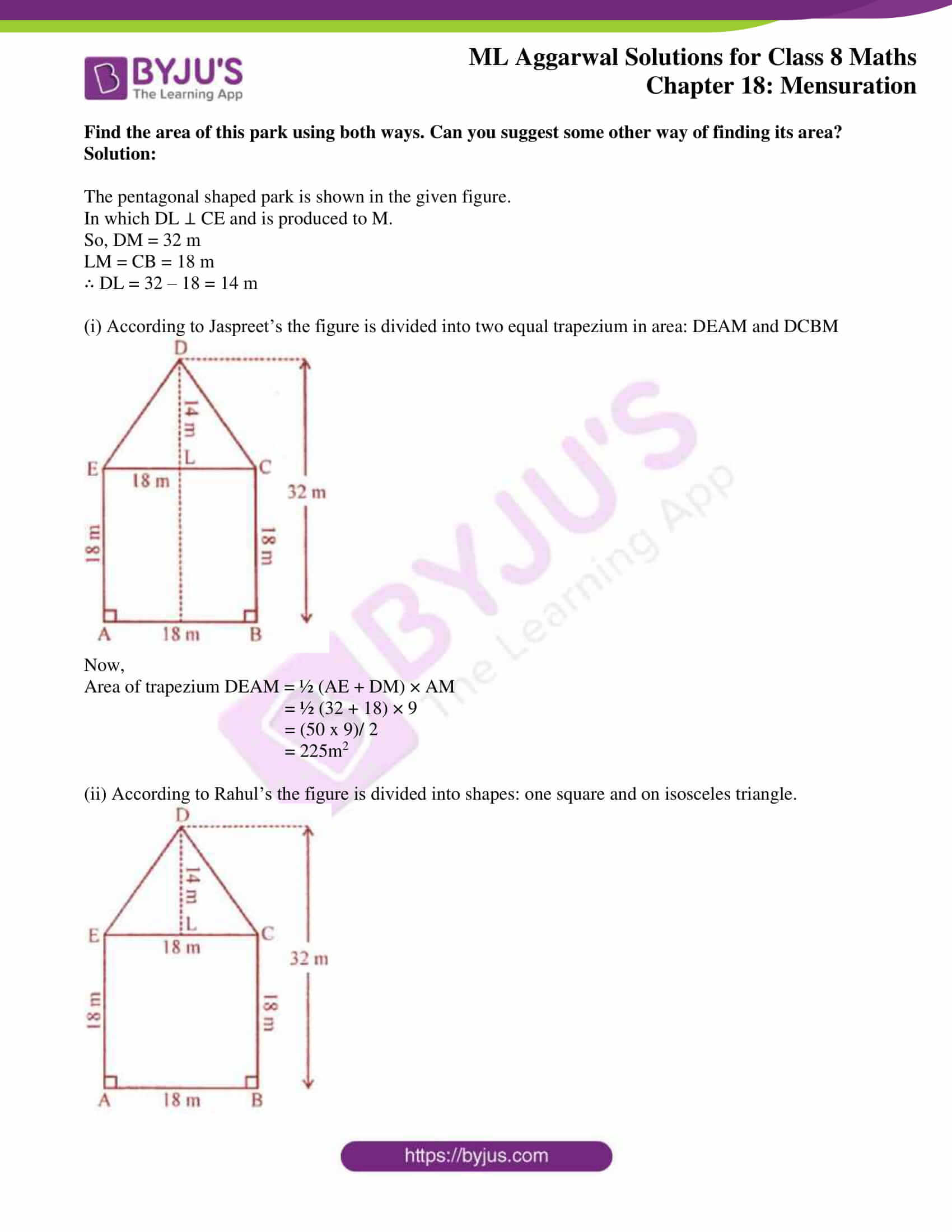 ml aggarwal sol mathematics class 8 ch 18 16