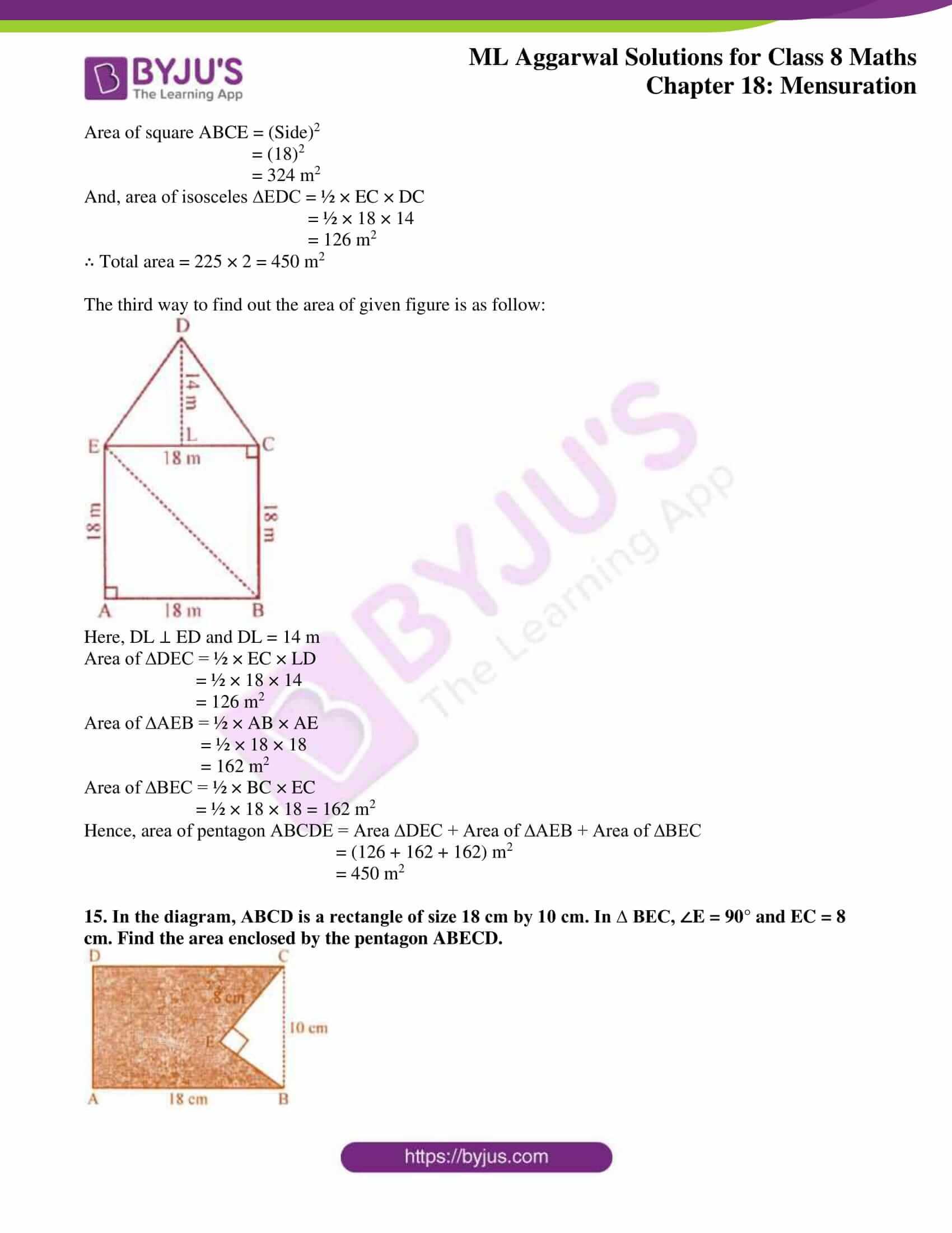 ml aggarwal sol mathematics class 8 ch 18 17