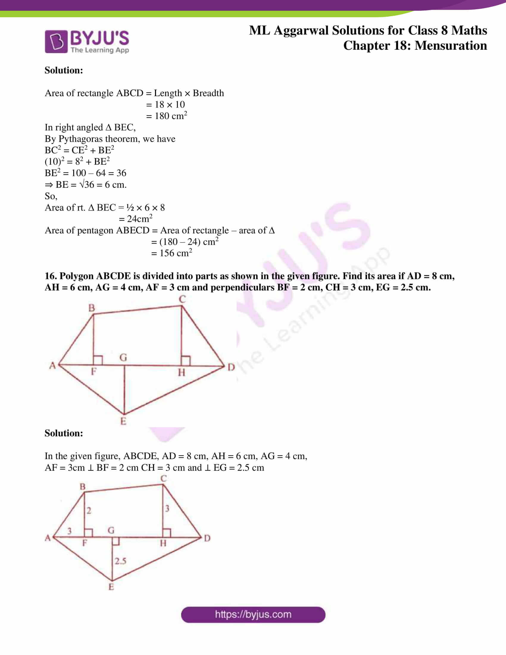 ml aggarwal sol mathematics class 8 ch 18 18