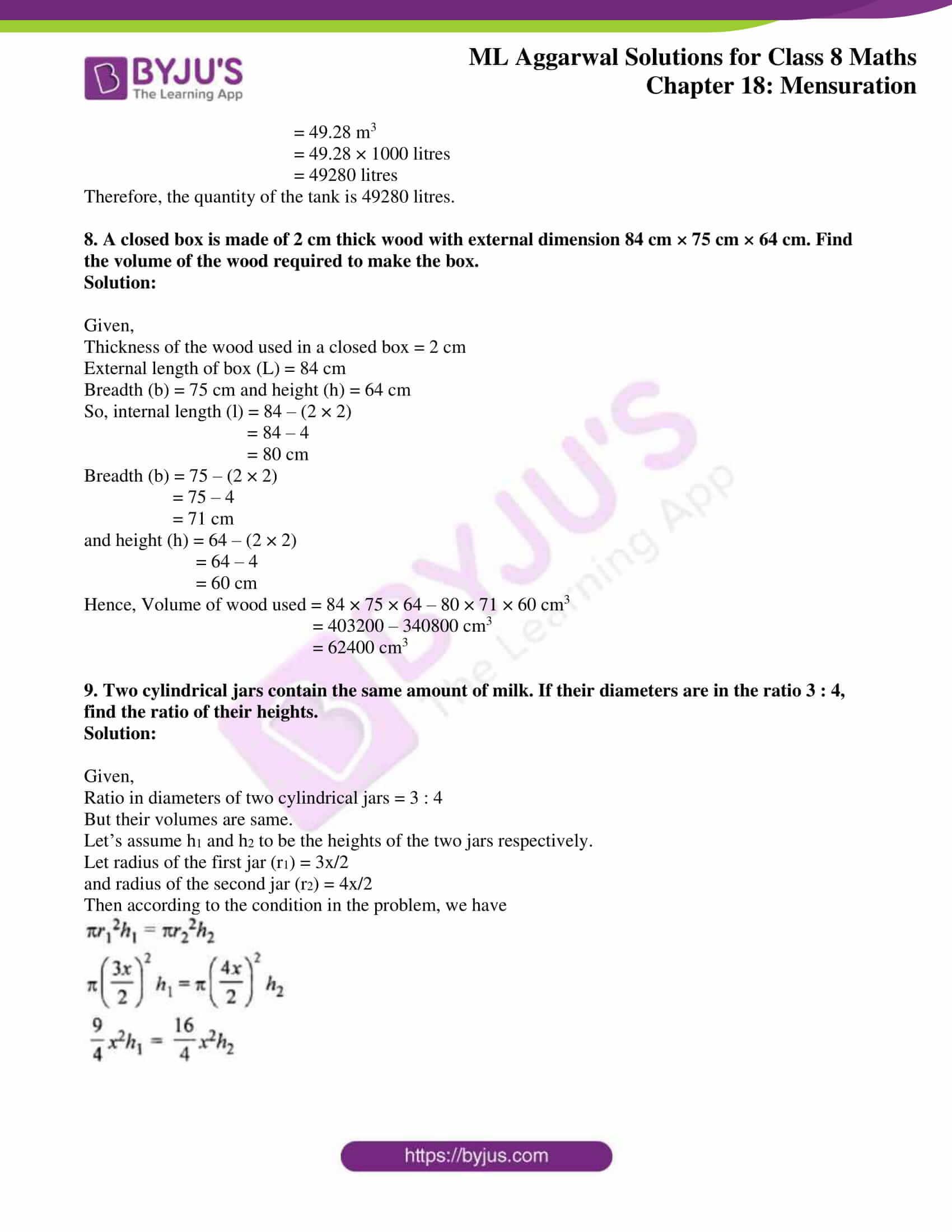 ml aggarwal sol mathematics class 8 ch 18 23