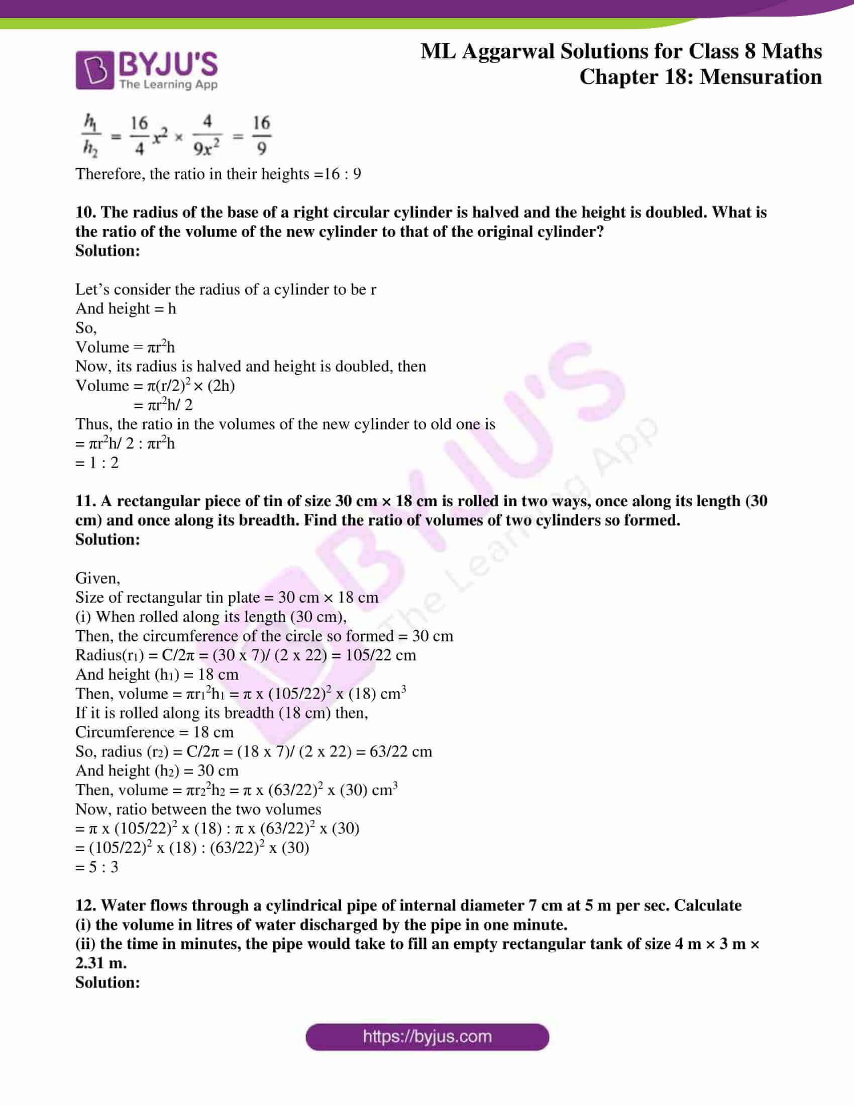 ml aggarwal sol mathematics class 8 ch 18 24