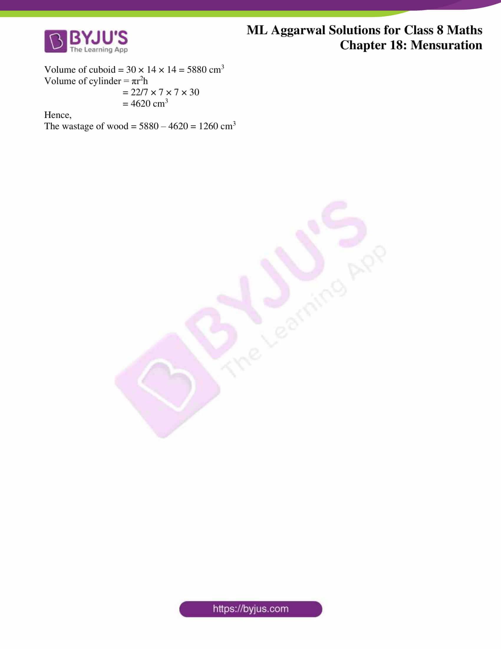 ml aggarwal sol mathematics class 8 ch 18 27