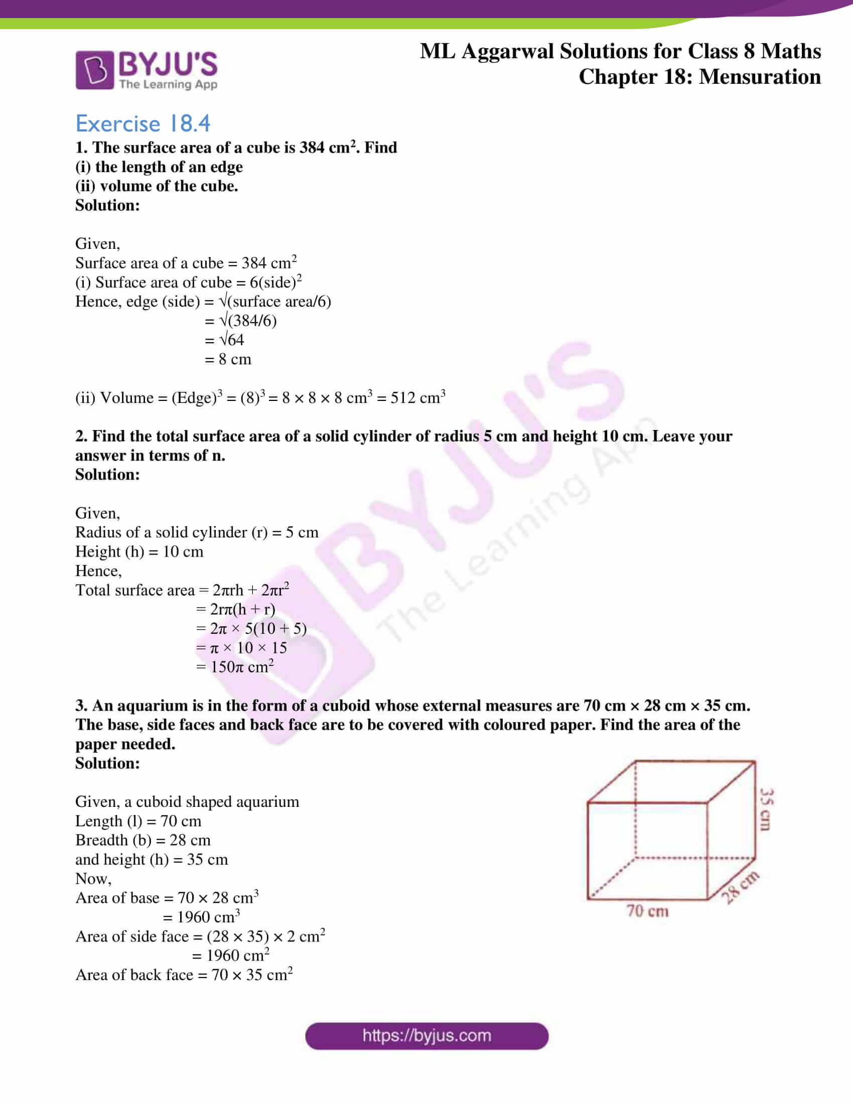 ml aggarwal sol mathematics class 8 ch 18 28