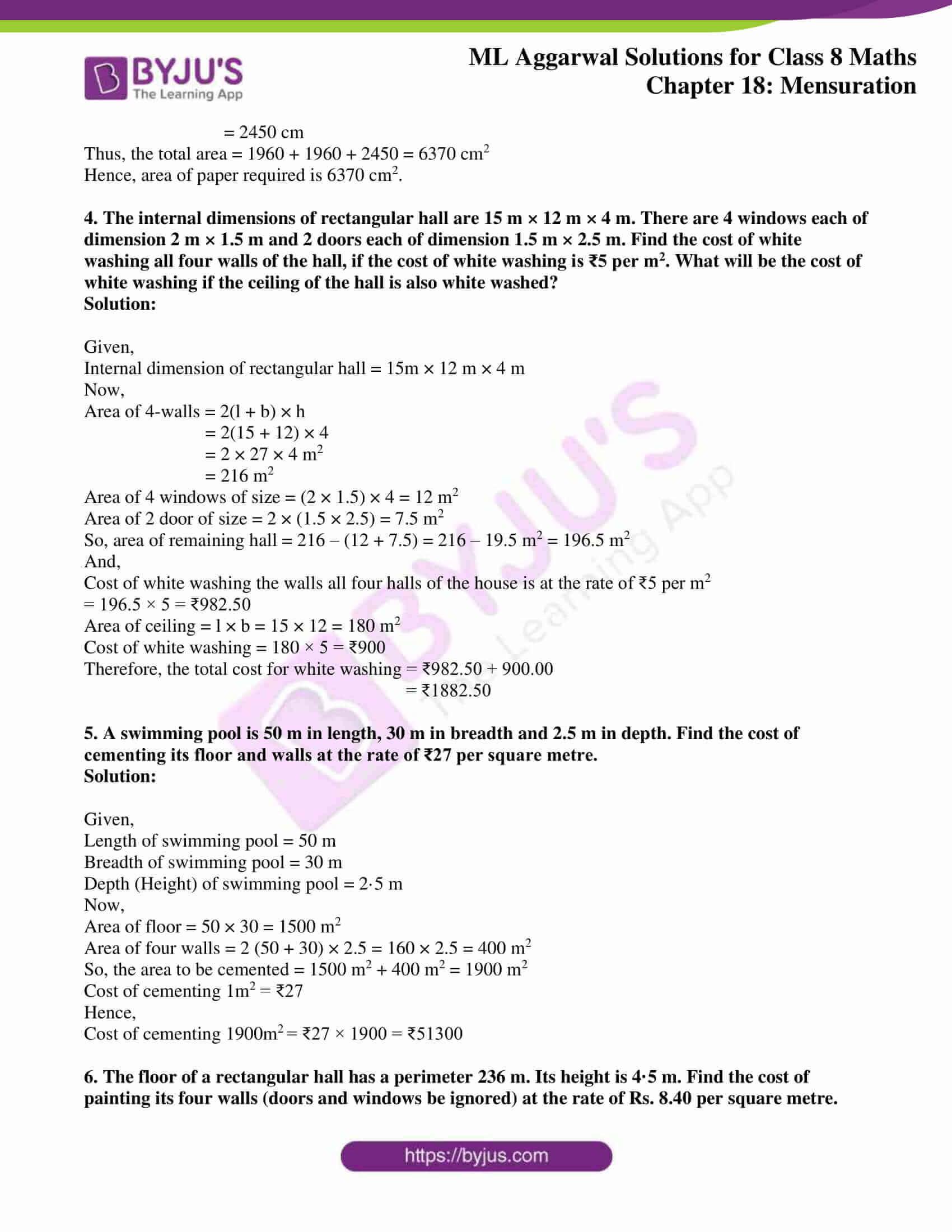 ml aggarwal sol mathematics class 8 ch 18 29