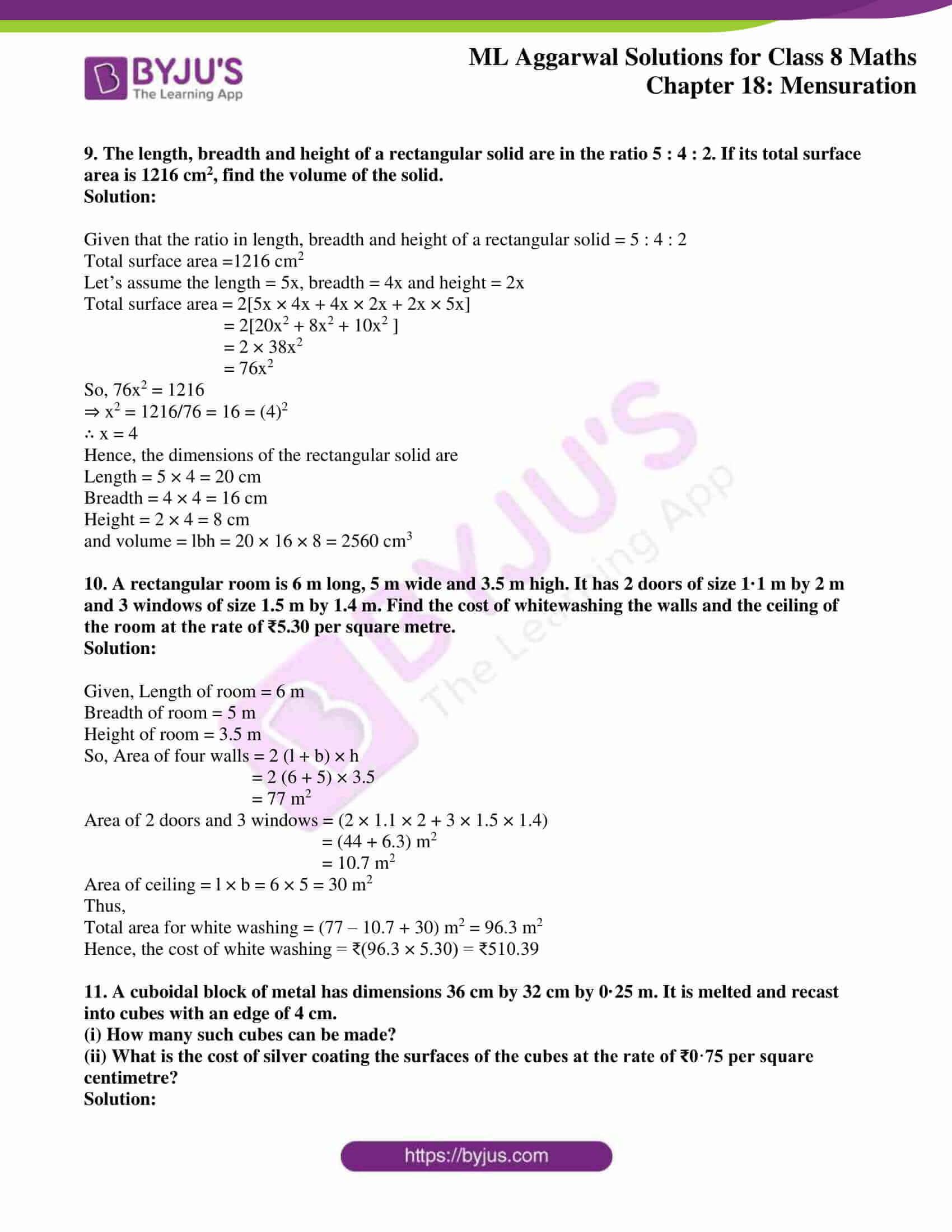 ml aggarwal sol mathematics class 8 ch 18 31