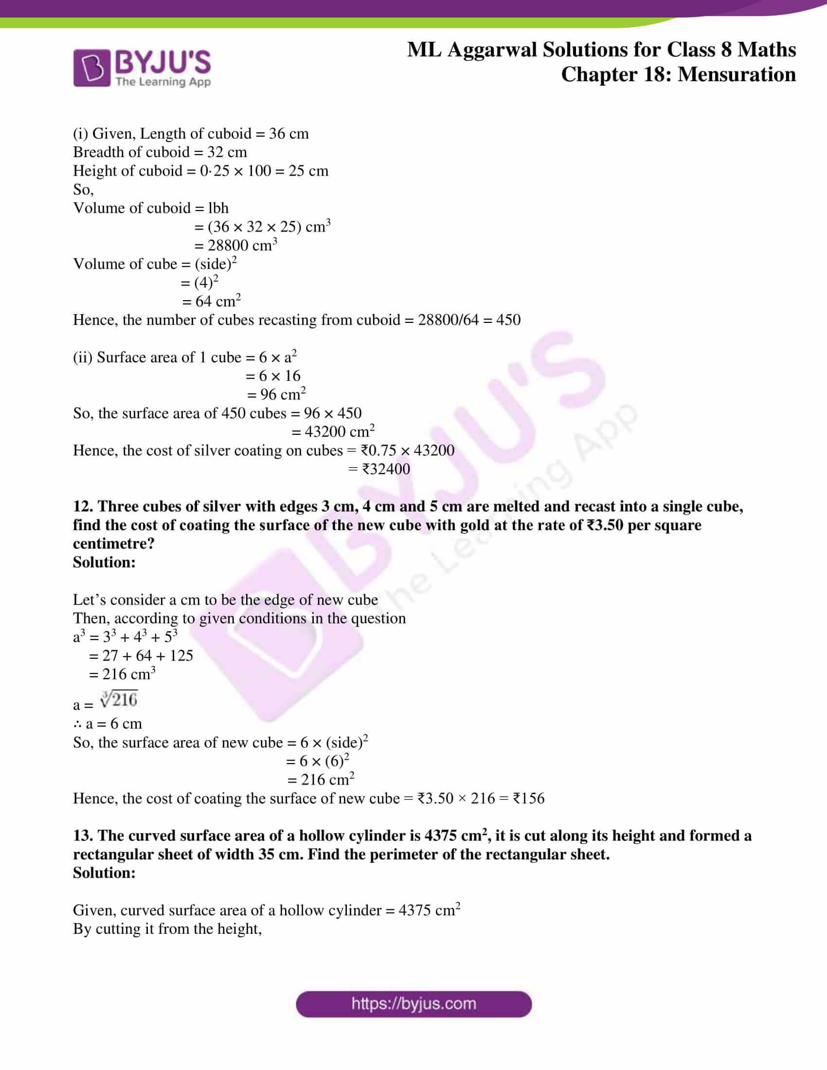 ml aggarwal sol mathematics class 8 ch 18 32