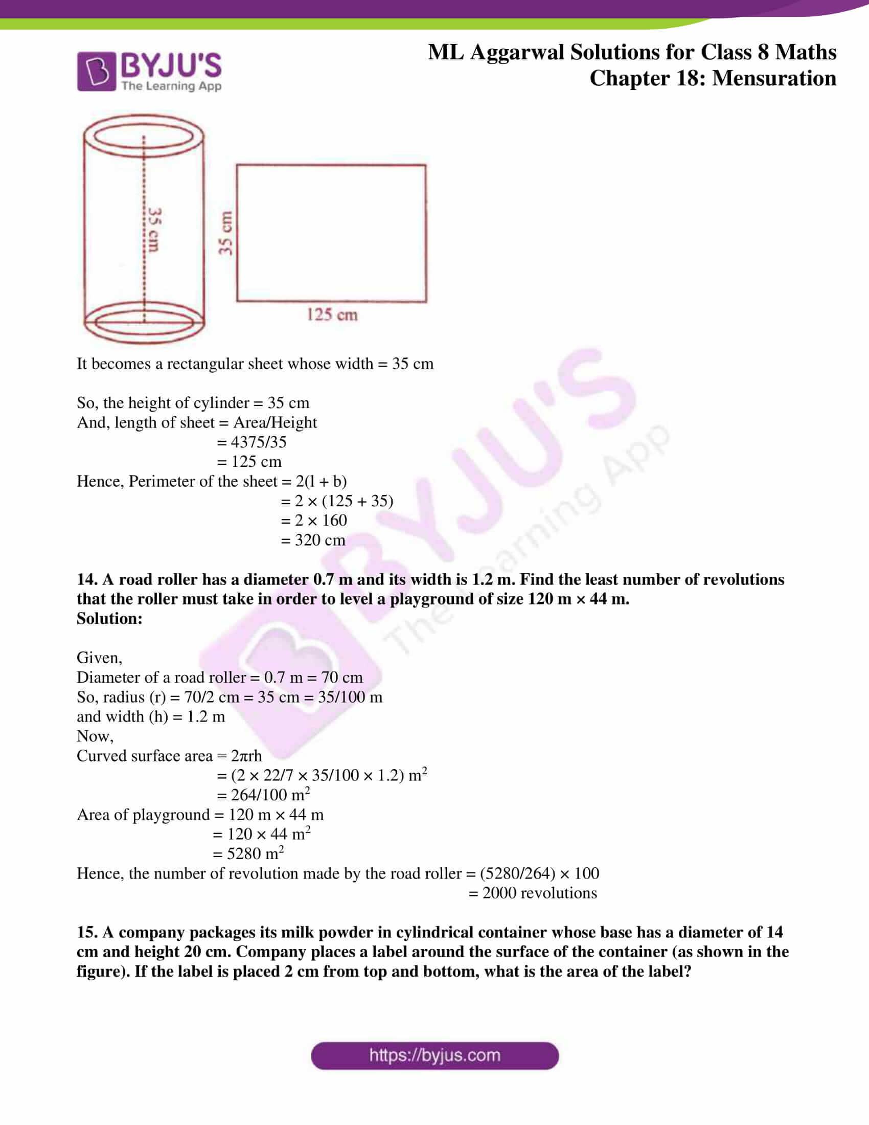 ml aggarwal sol mathematics class 8 ch 18 33