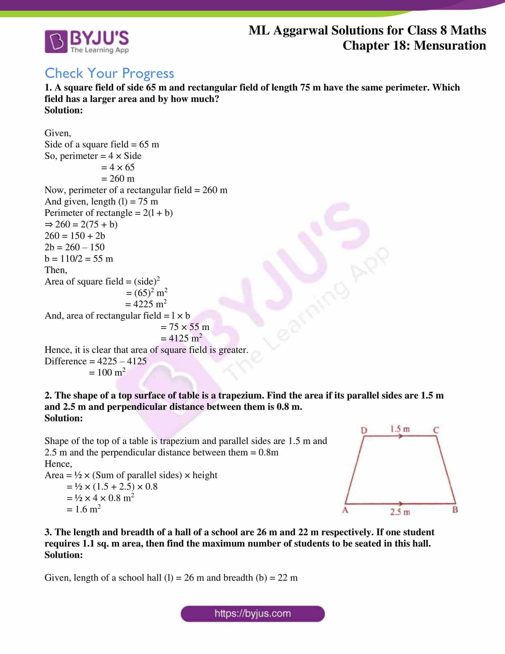 ml aggarwal sol mathematics class 8 ch 18 36