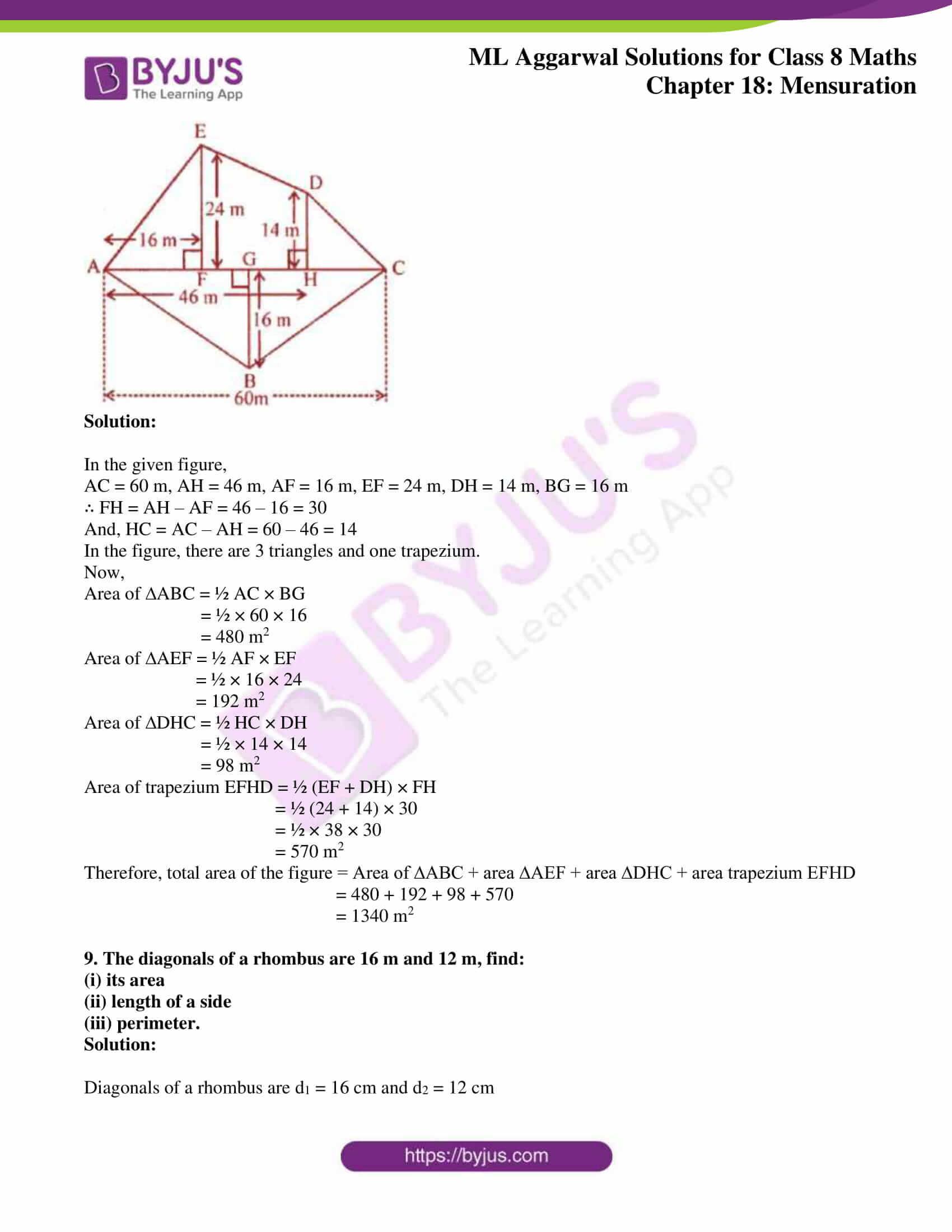 ml aggarwal sol mathematics class 8 ch 18 39