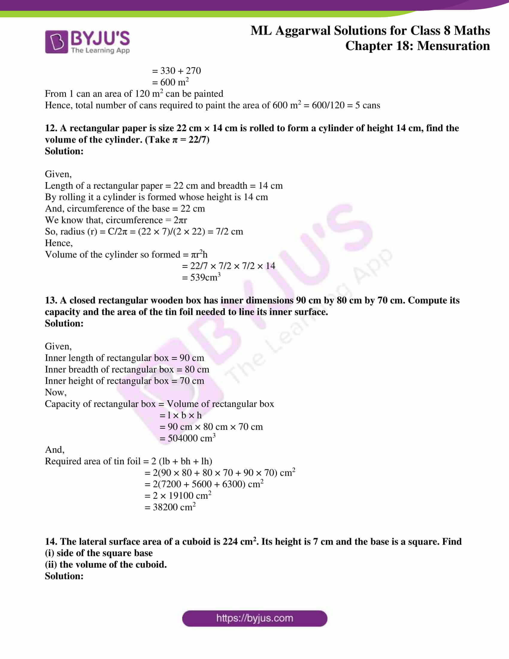 ml aggarwal sol mathematics class 8 ch 18 41