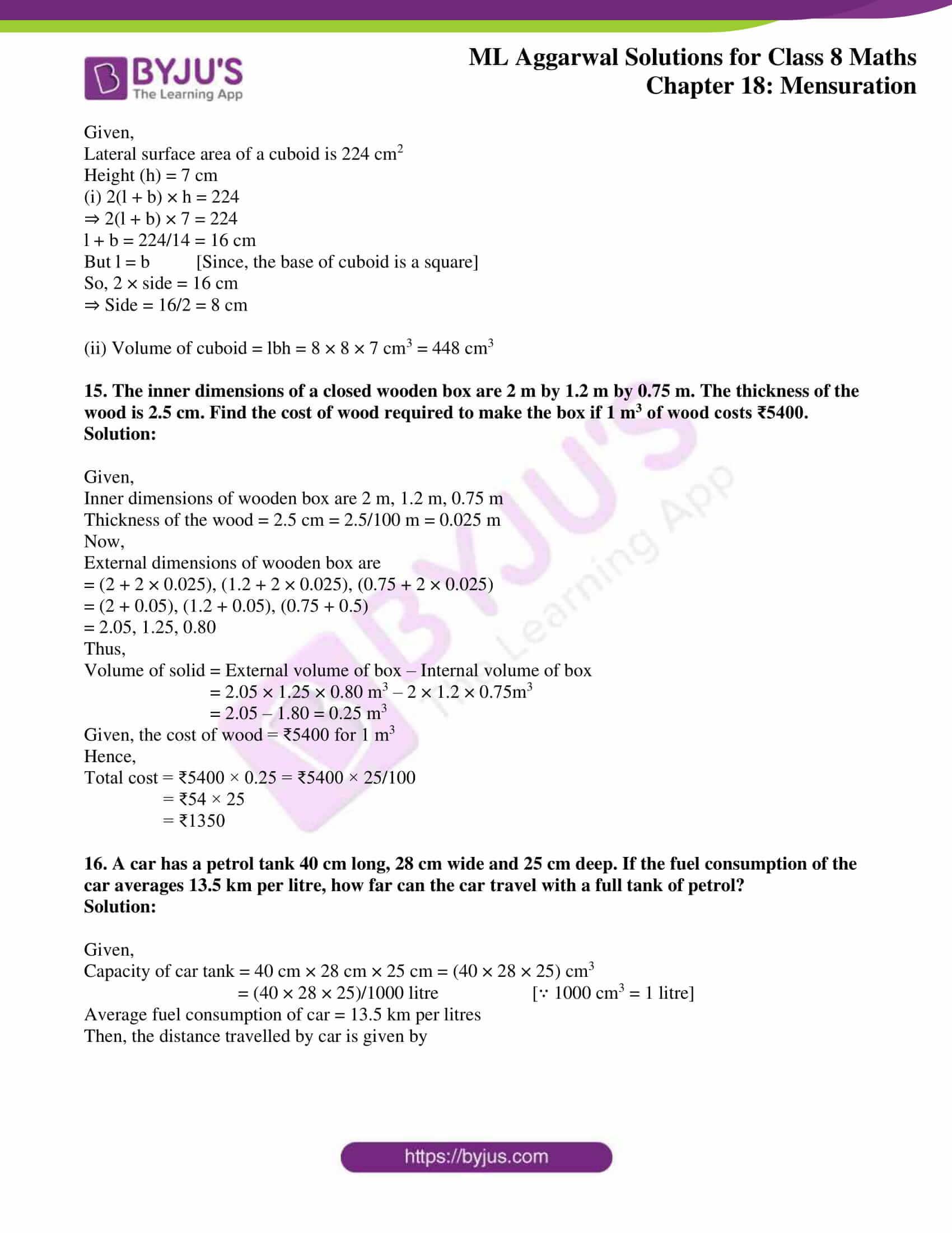 ml aggarwal sol mathematics class 8 ch 18 42