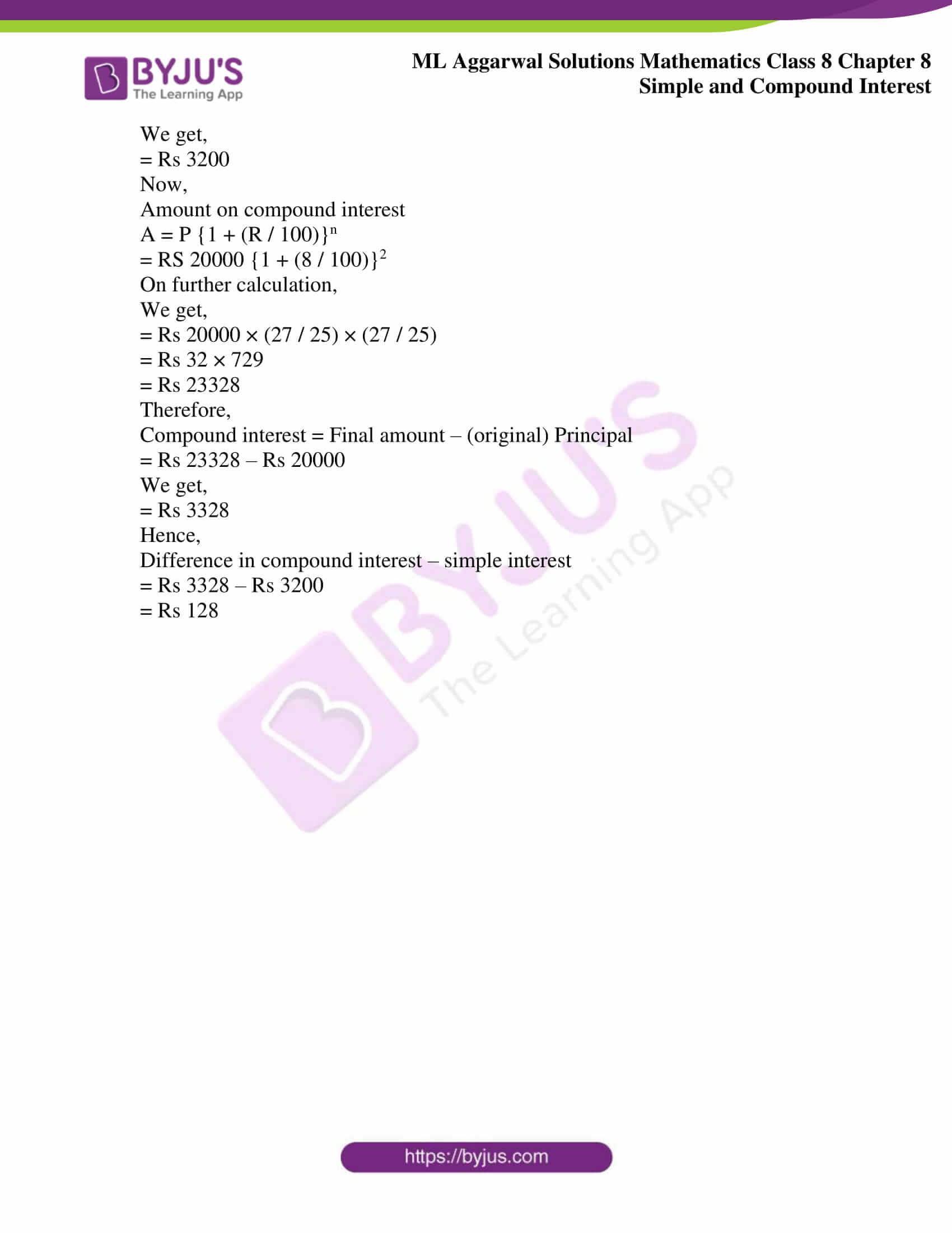 ml aggarwal sol mathematics class 8 ch 8 11