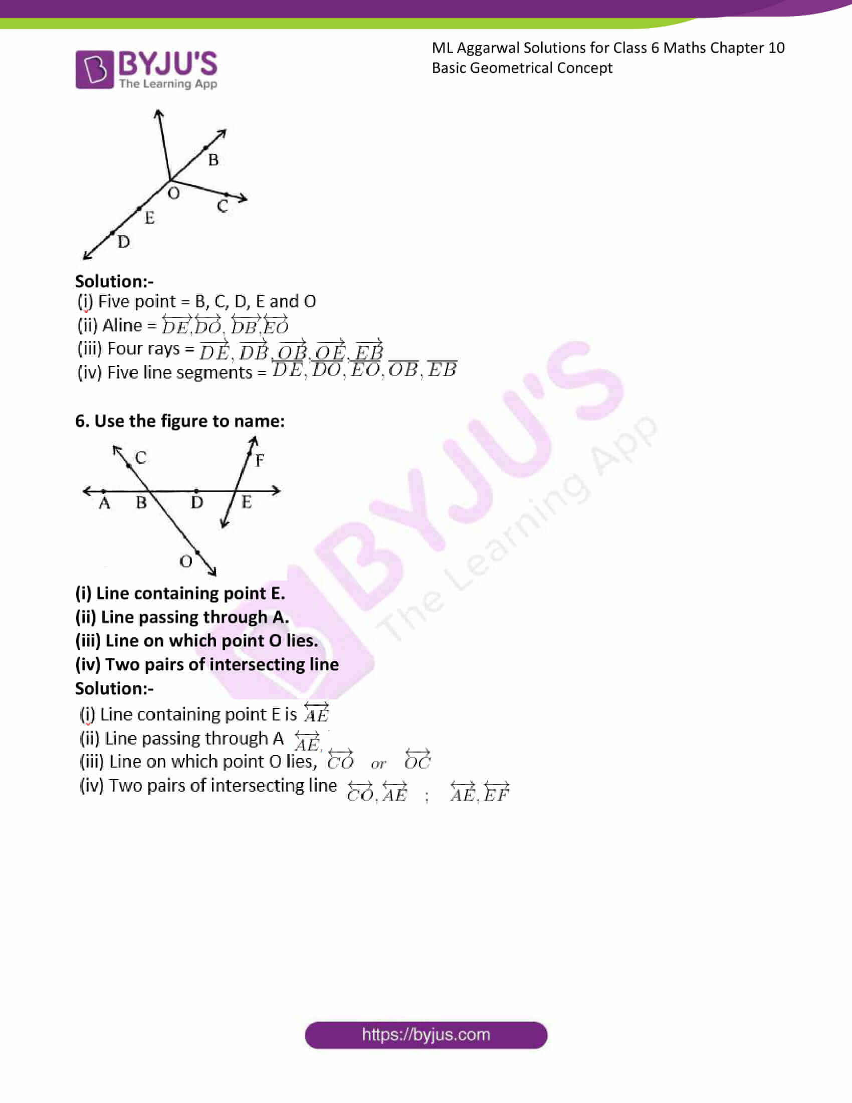 ml aggarwal solutions for class 6 maths chapter 10 2
