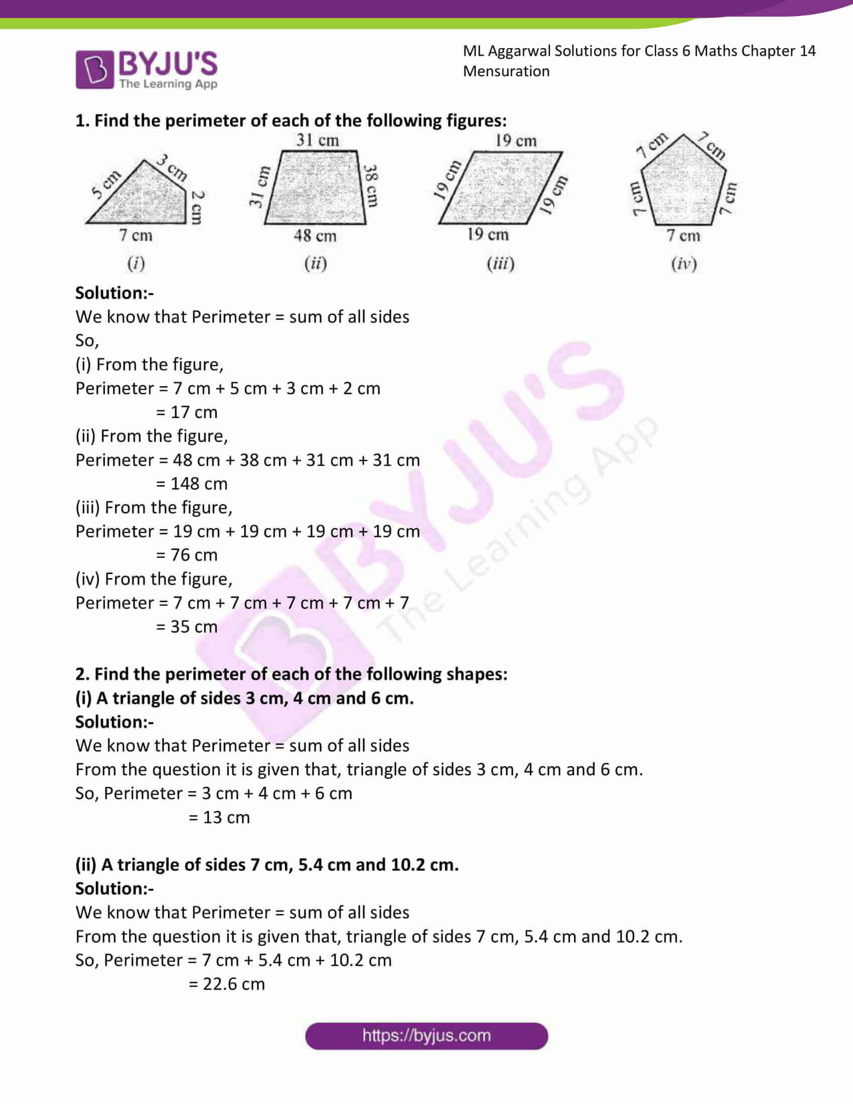ml aggarwal solutions for class 6 maths chapter 14 1