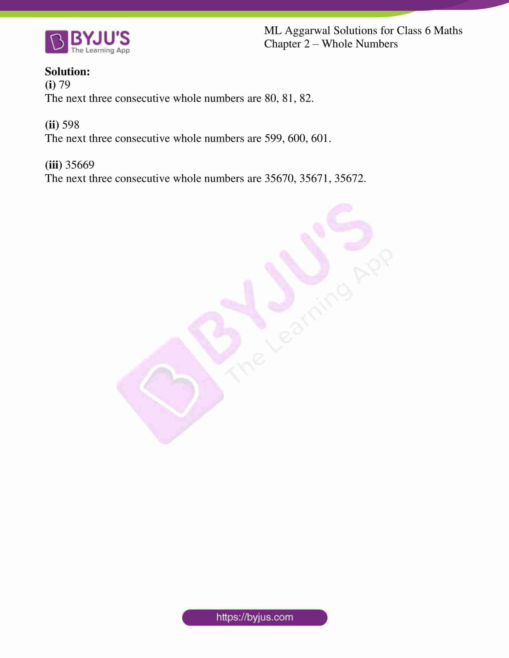 ml aggarwal solutions for class 6 maths chapter 2 3