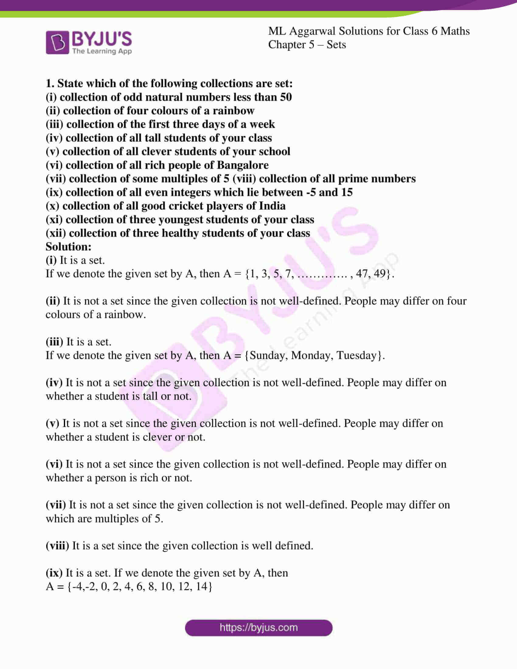 ml aggarwal solutions for class 6 maths chapter 5 1
