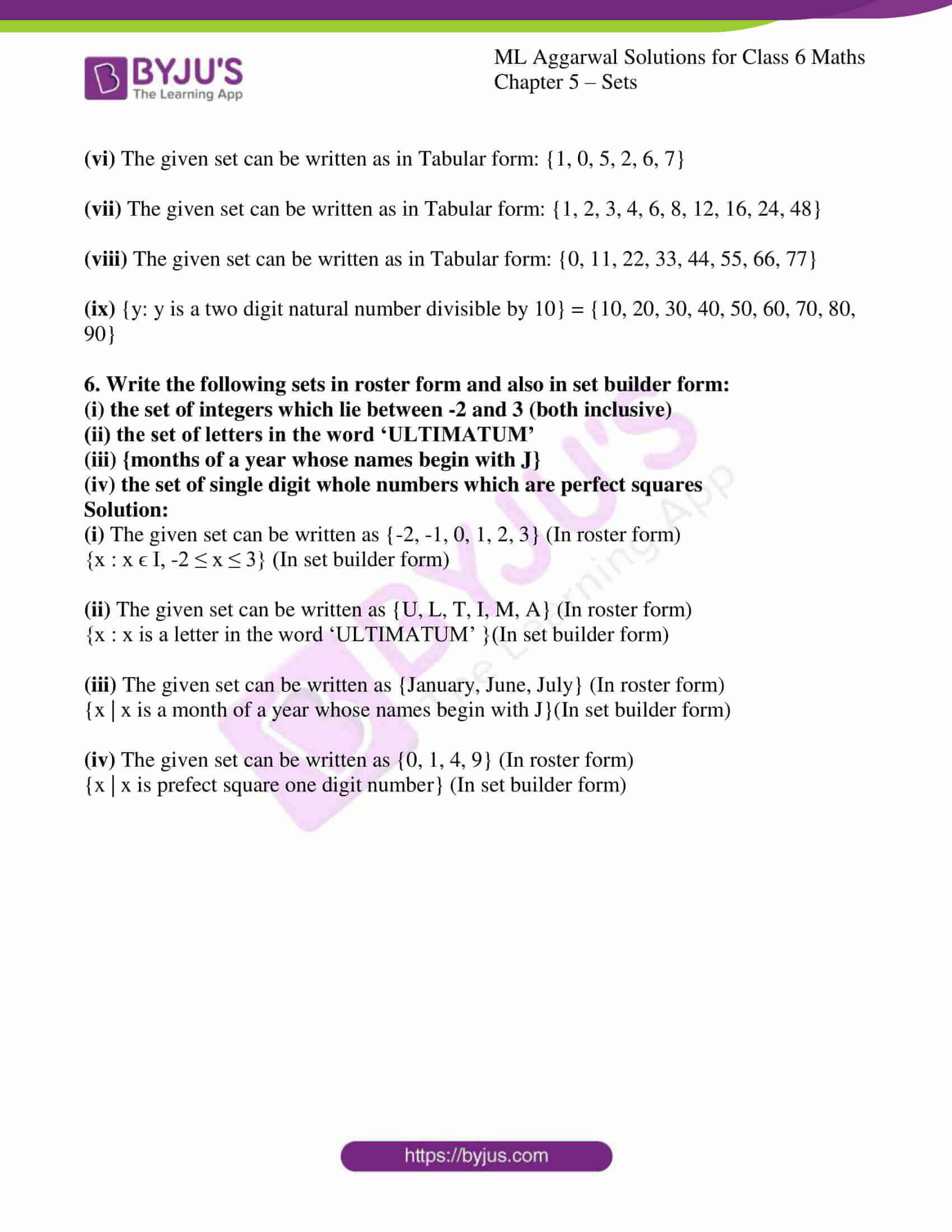 ml aggarwal solutions for class 6 maths chapter 5 5