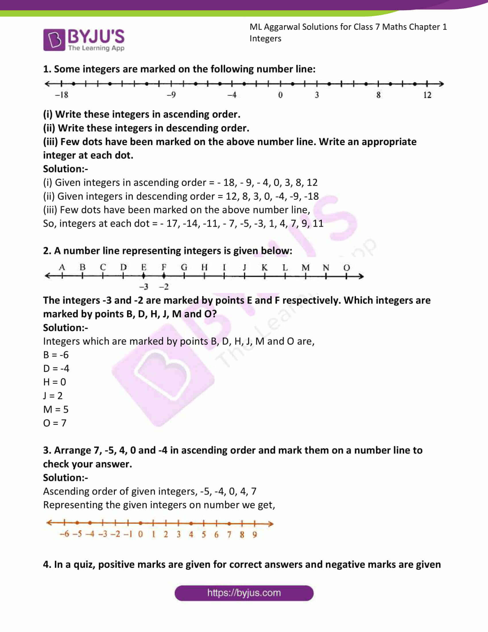 ml aggarwal solutions for class 7 maths chapter 1 1