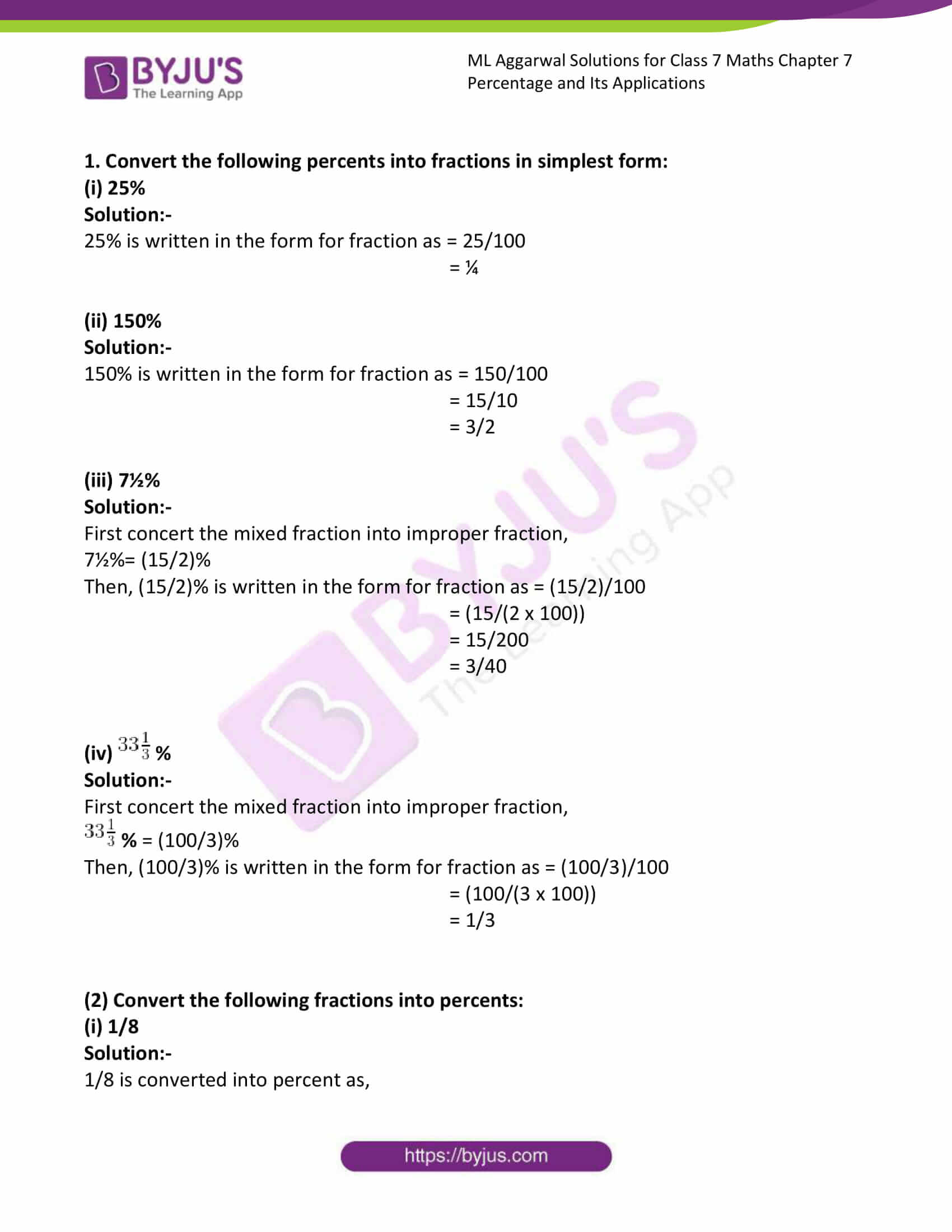 ml aggarwal solutions for class 7 maths chapter 7 1
