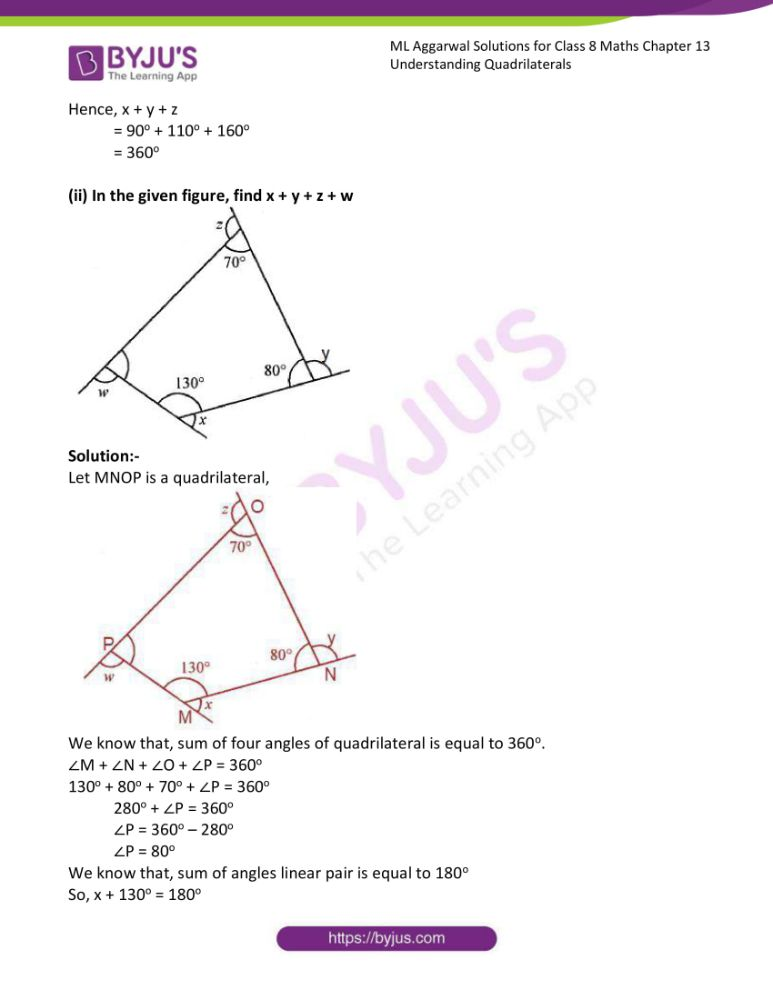 ml aggarwal solutions for class 8 maths chapter 13 14