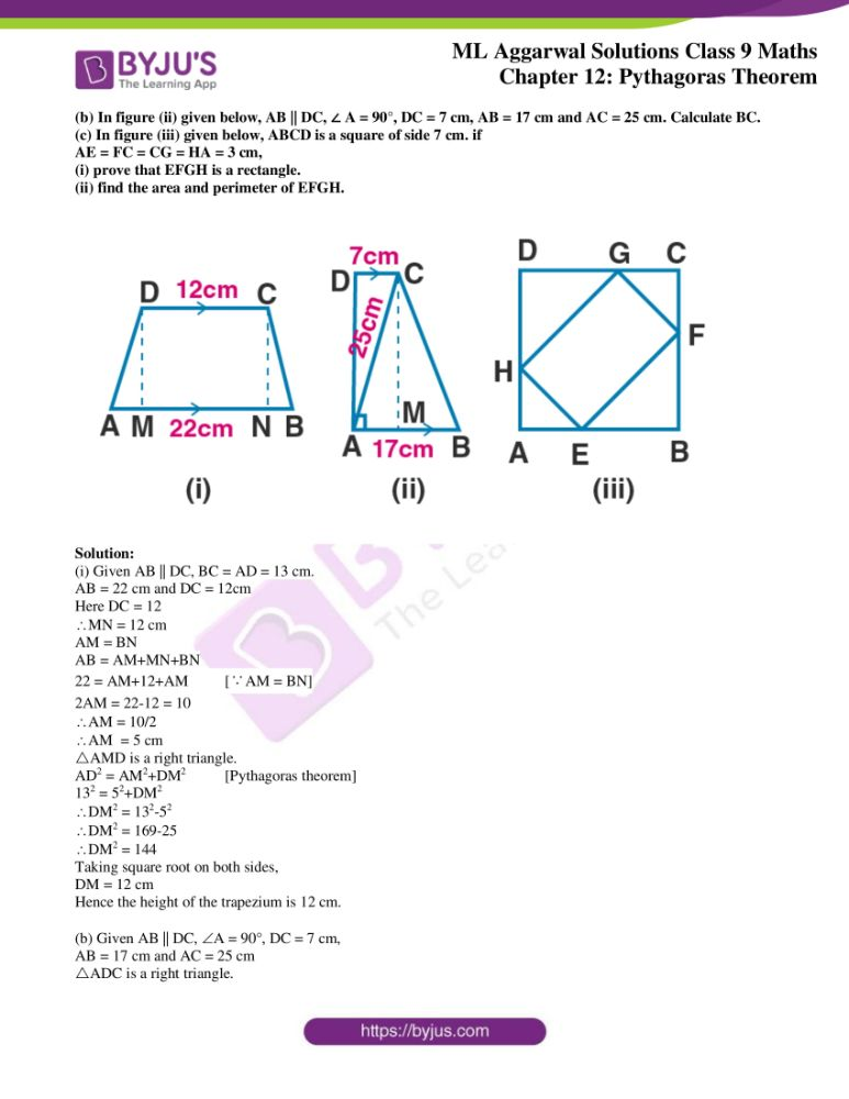 ml aggarwal solutions for class 9 maths chapter 12 20
