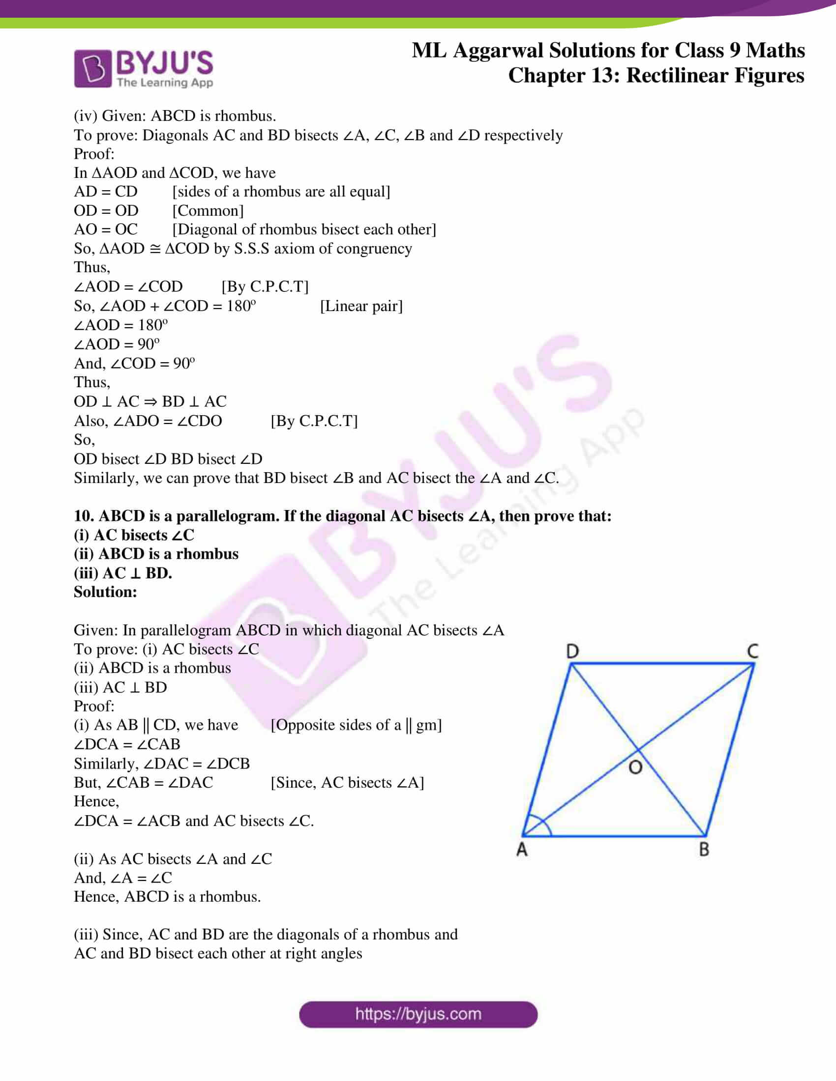 ml aggarwal solutions for class 9 maths chapter 13 10