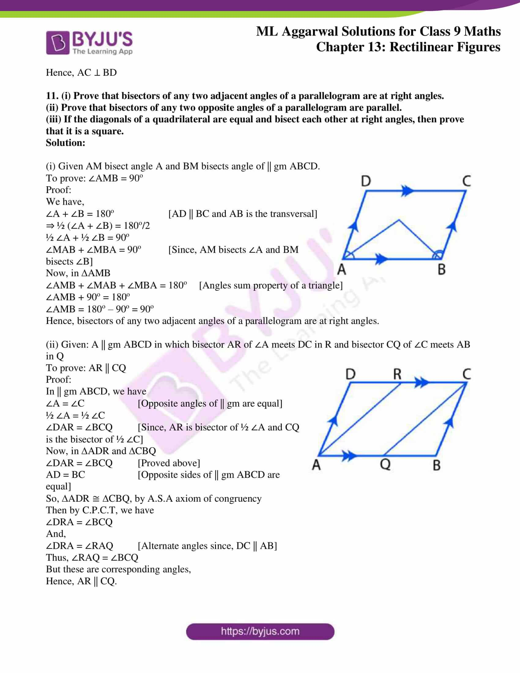 ml aggarwal solutions for class 9 maths chapter 13 11