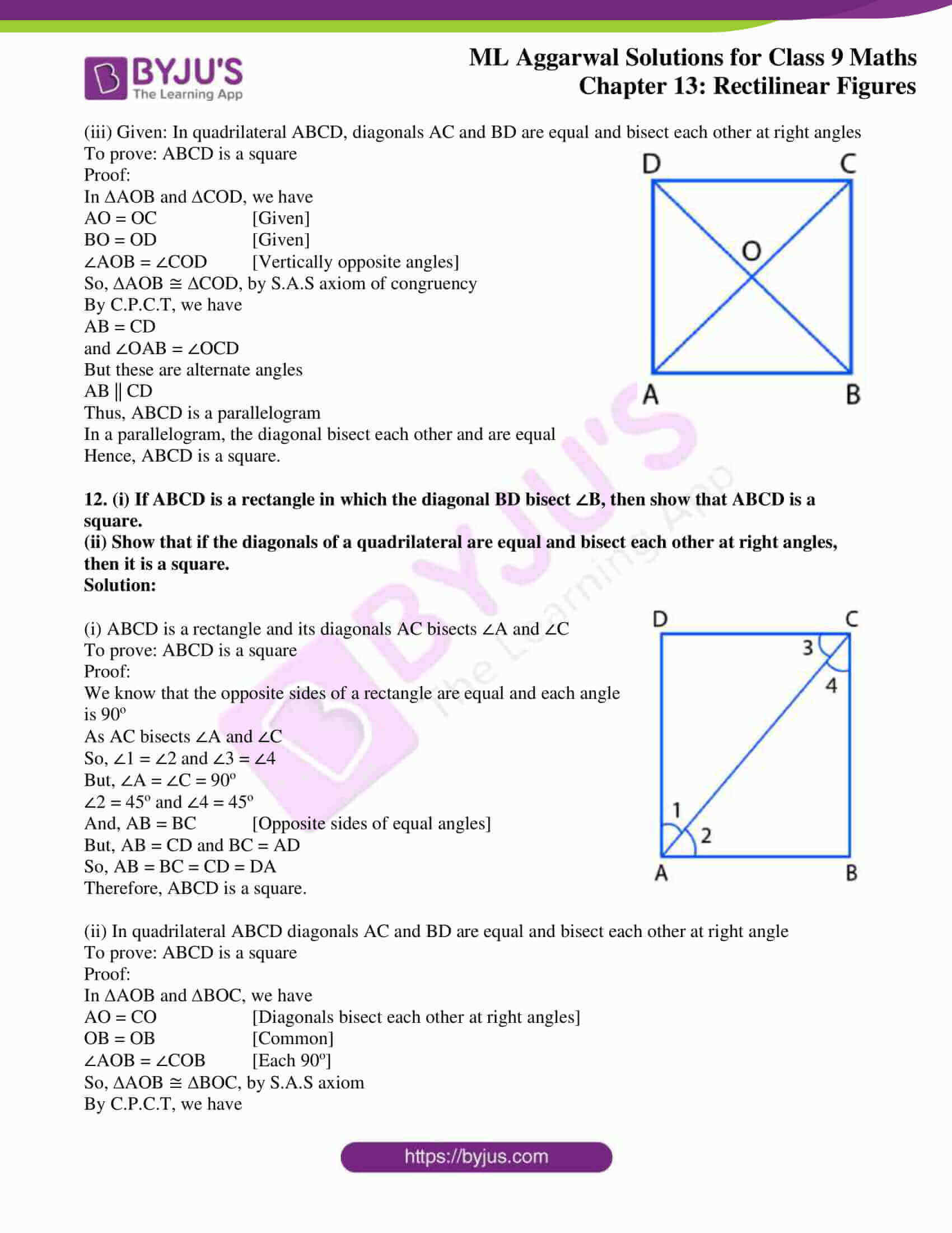 ml aggarwal solutions for class 9 maths chapter 13 12