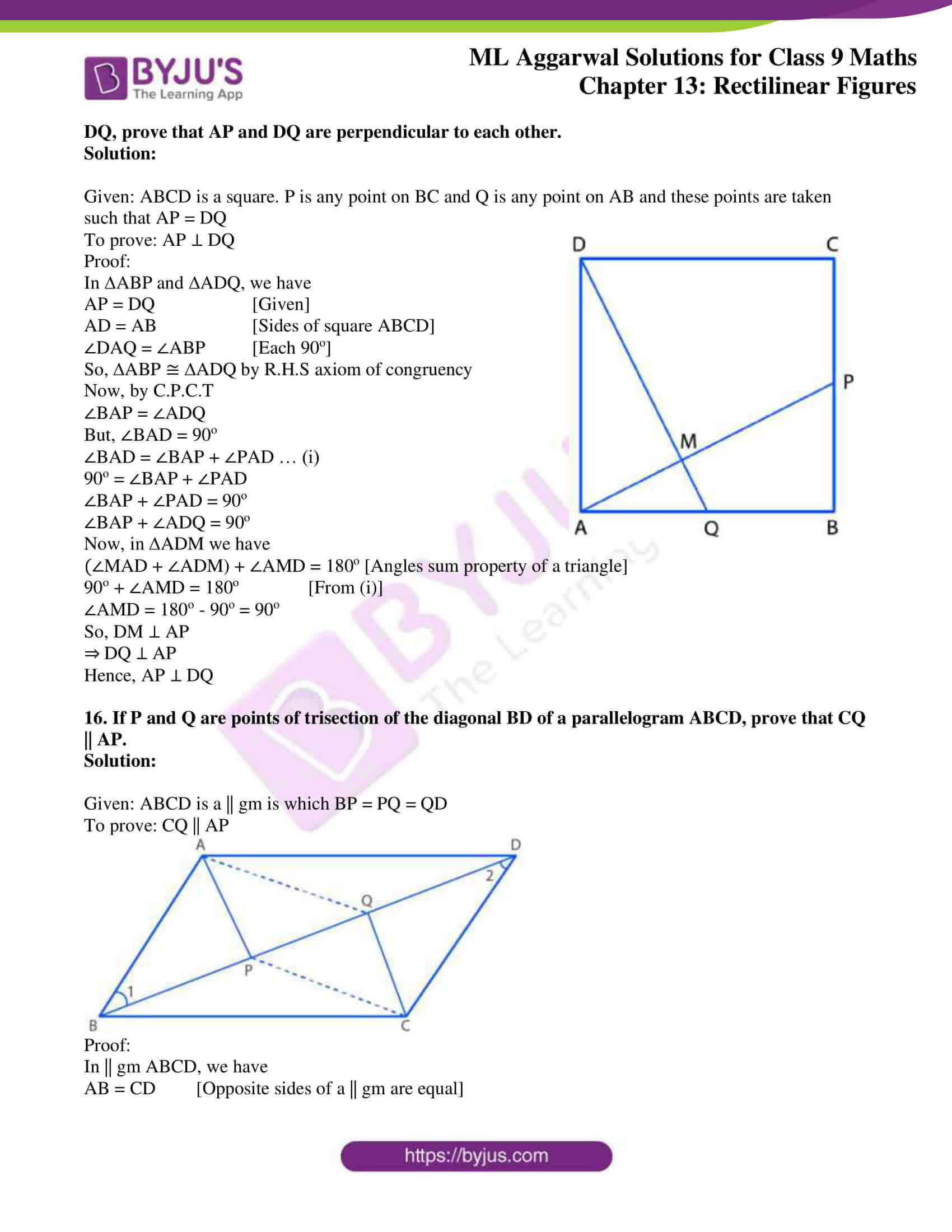 ml aggarwal solutions for class 9 maths chapter 13 15