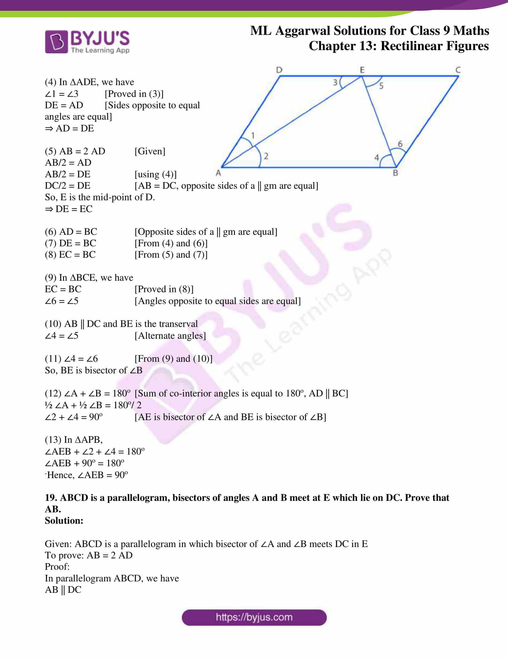 ml aggarwal solutions for class 9 maths chapter 13 19