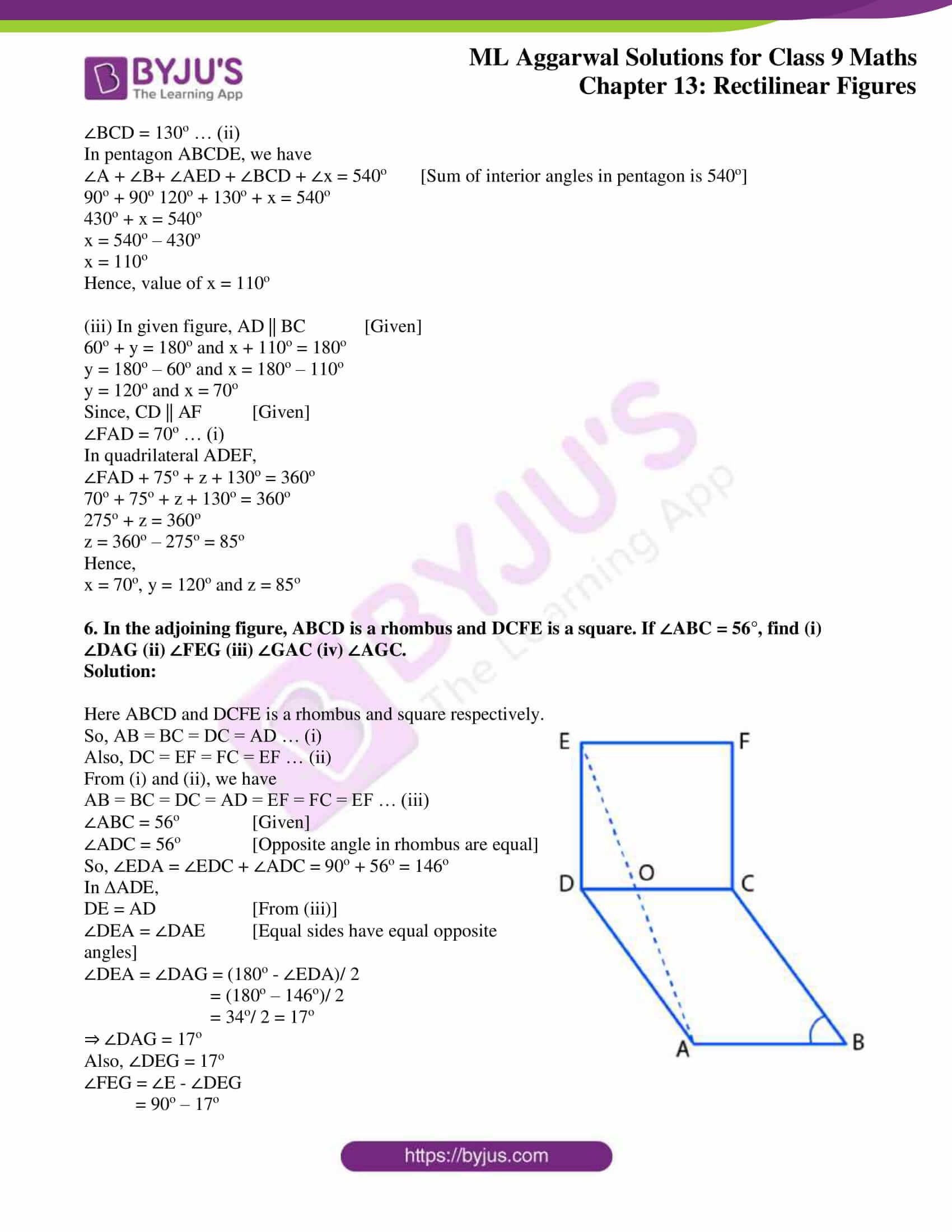 ml aggarwal solutions for class 9 maths chapter 13 44