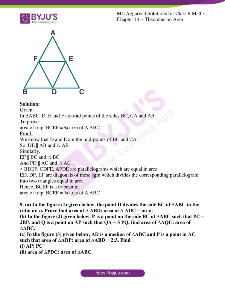 ml aggarwal solutions for class 9 maths chapter 14 10